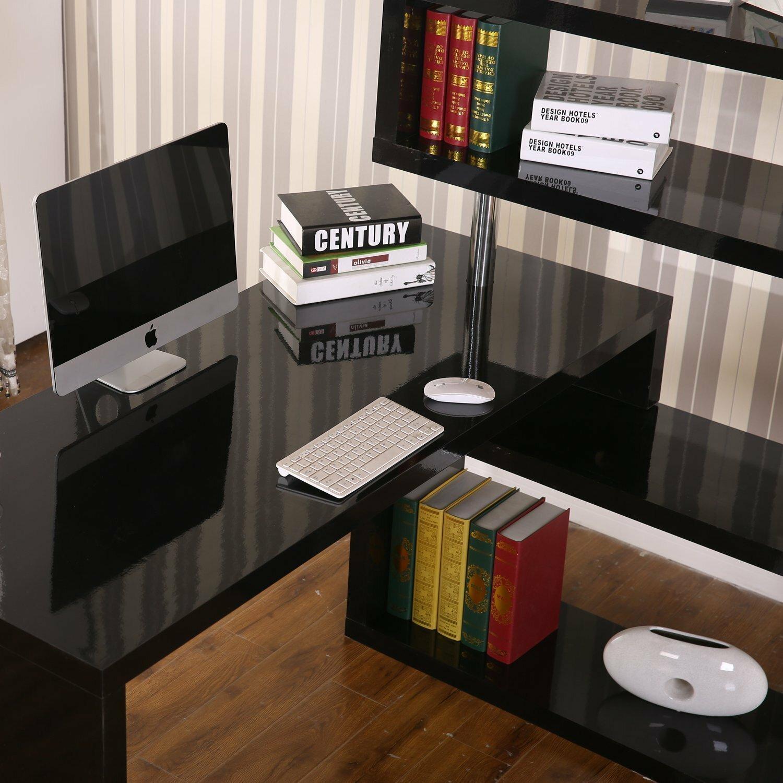 Homcom Foldable Rotating Corner Writing Desk Amp Reviews