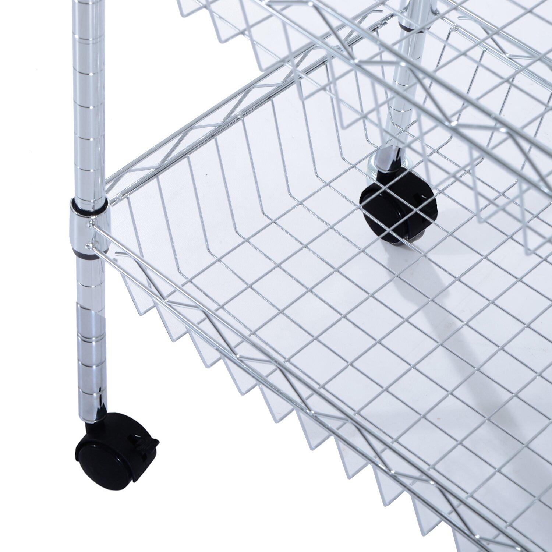 Kitchen Basket Homcom Portable Wire Kitchen Basket Wayfair