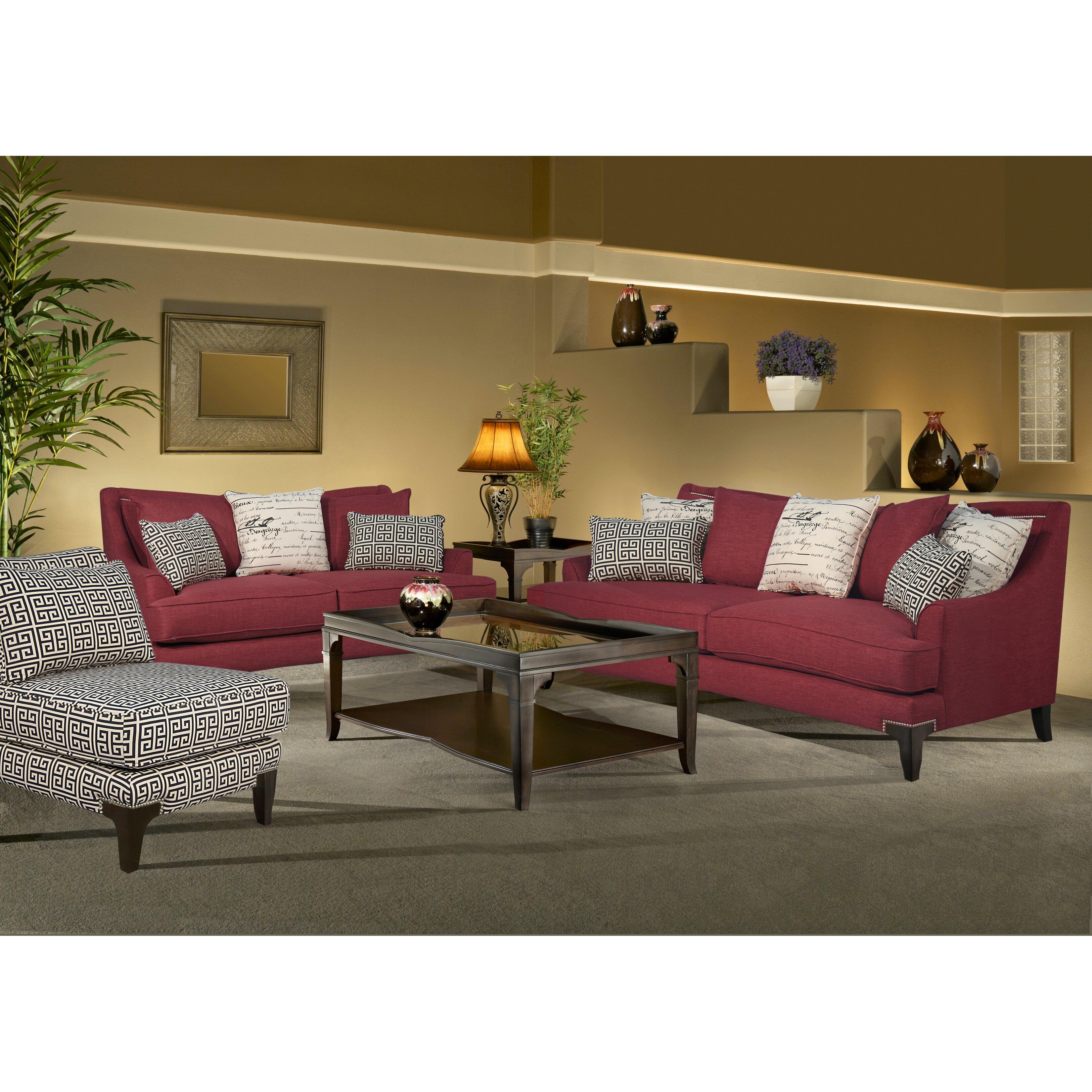 sage avenue megan 3 piece sofa loveseat and chair set wayfai