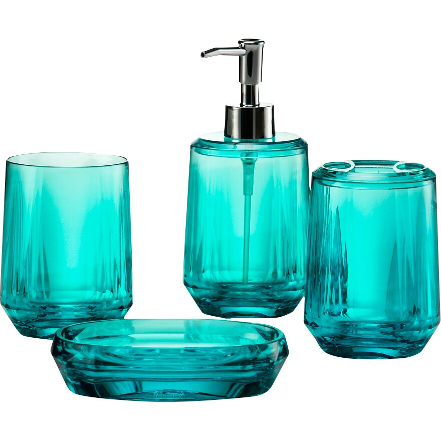 Immanuel gemme 4 piece bathroom accessory set reviews for Bathroom 4 piece set