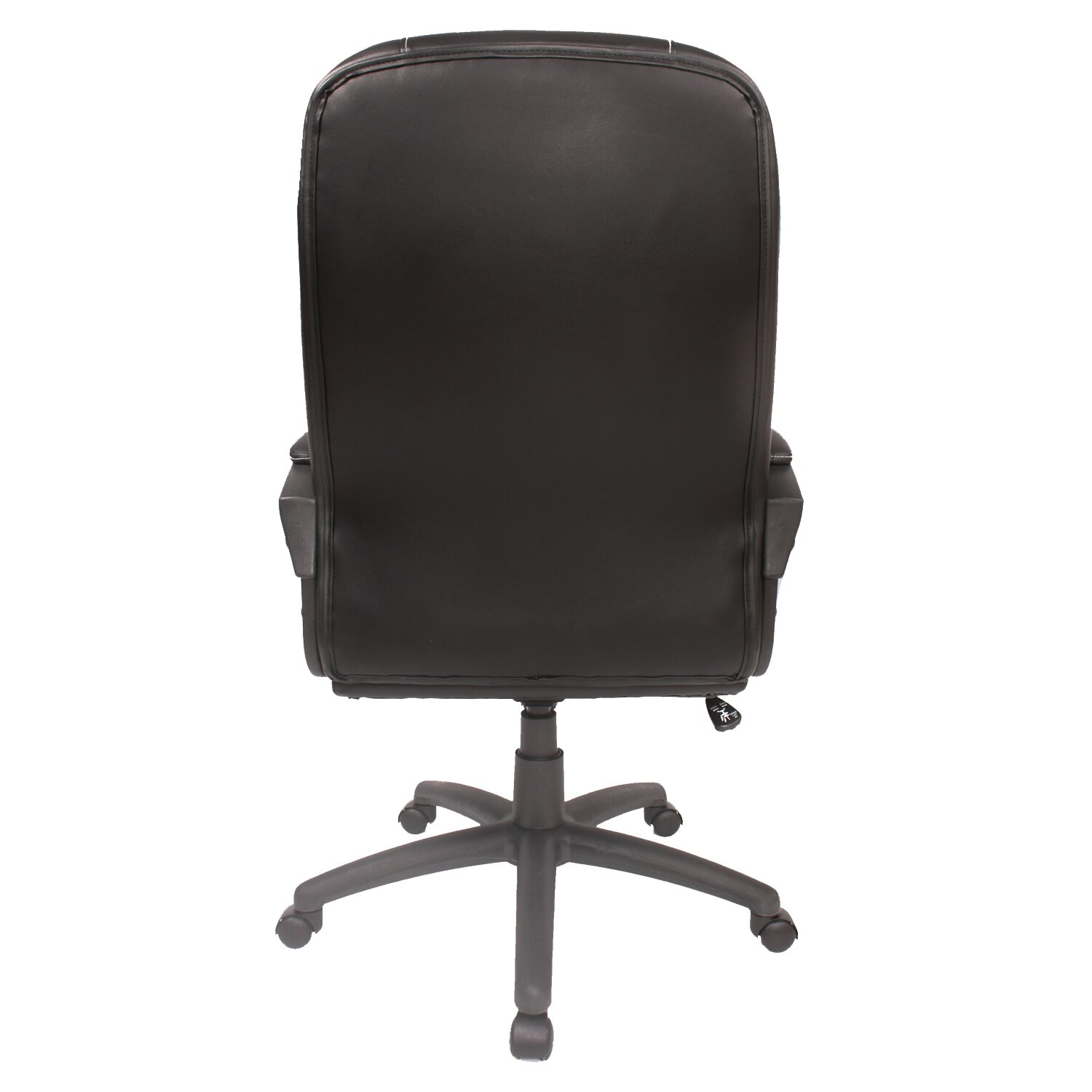 comfort products midback leather desk chair - Gray Leather Office Chair