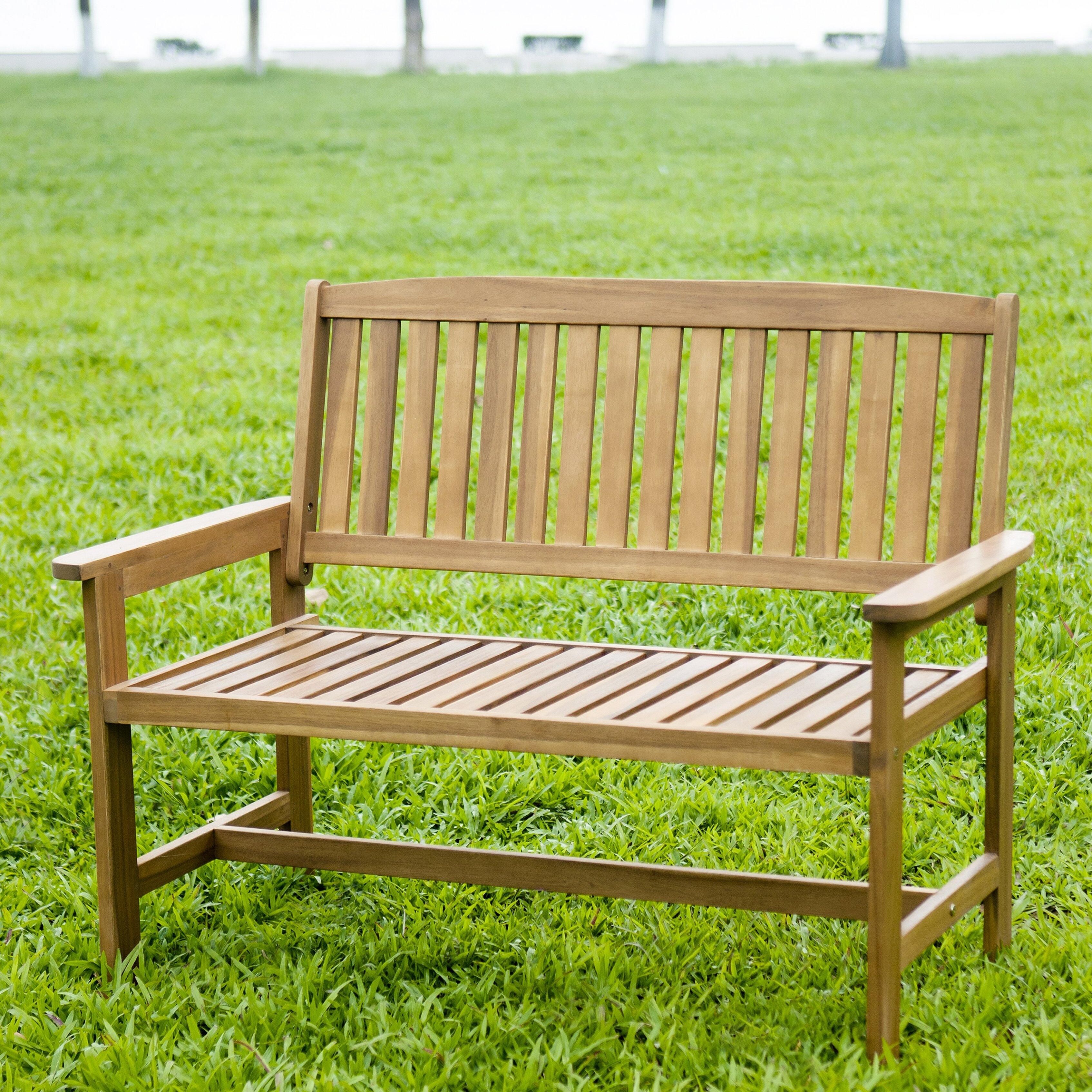 HRH Designs Wood Garden Bench Reviews Wayfairca