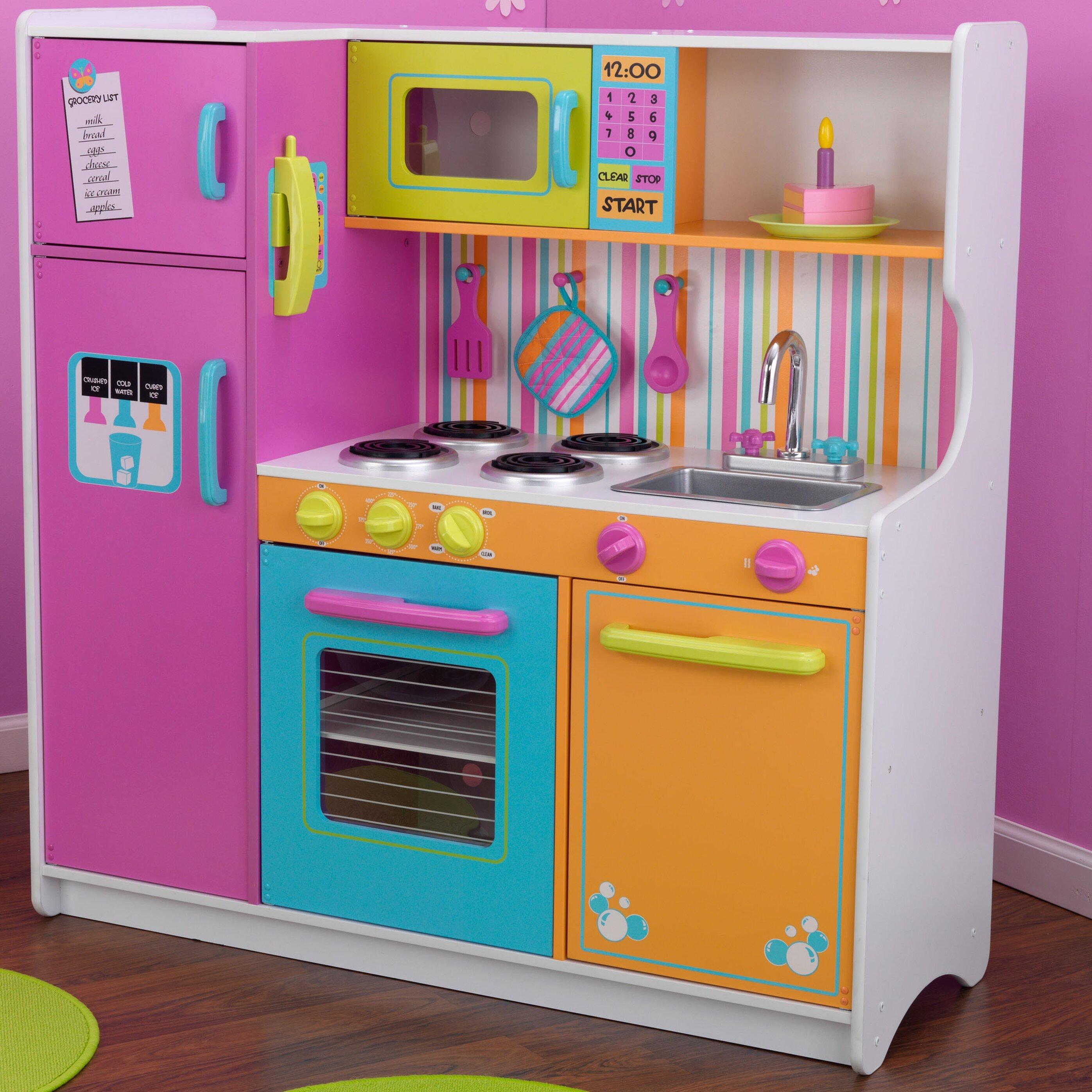 Ordinary Kidkraft Bright Kitchen Accessories Part - 6: Kidkraft Deluxe Big Amp Bright Kitchen Play Set Amp Reviews