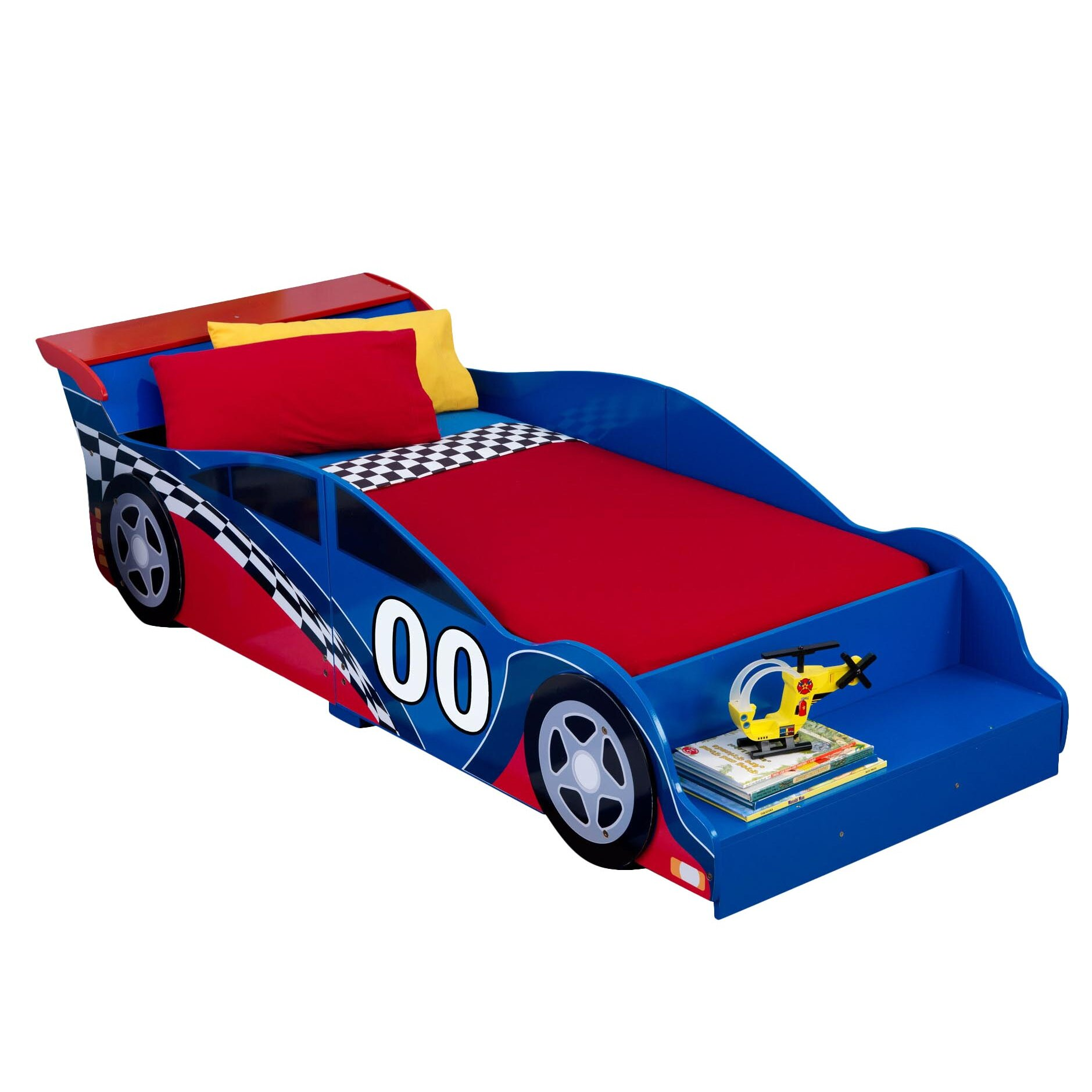Car beds for boys twin - Kidkraft Racecar Toddler Car Bed