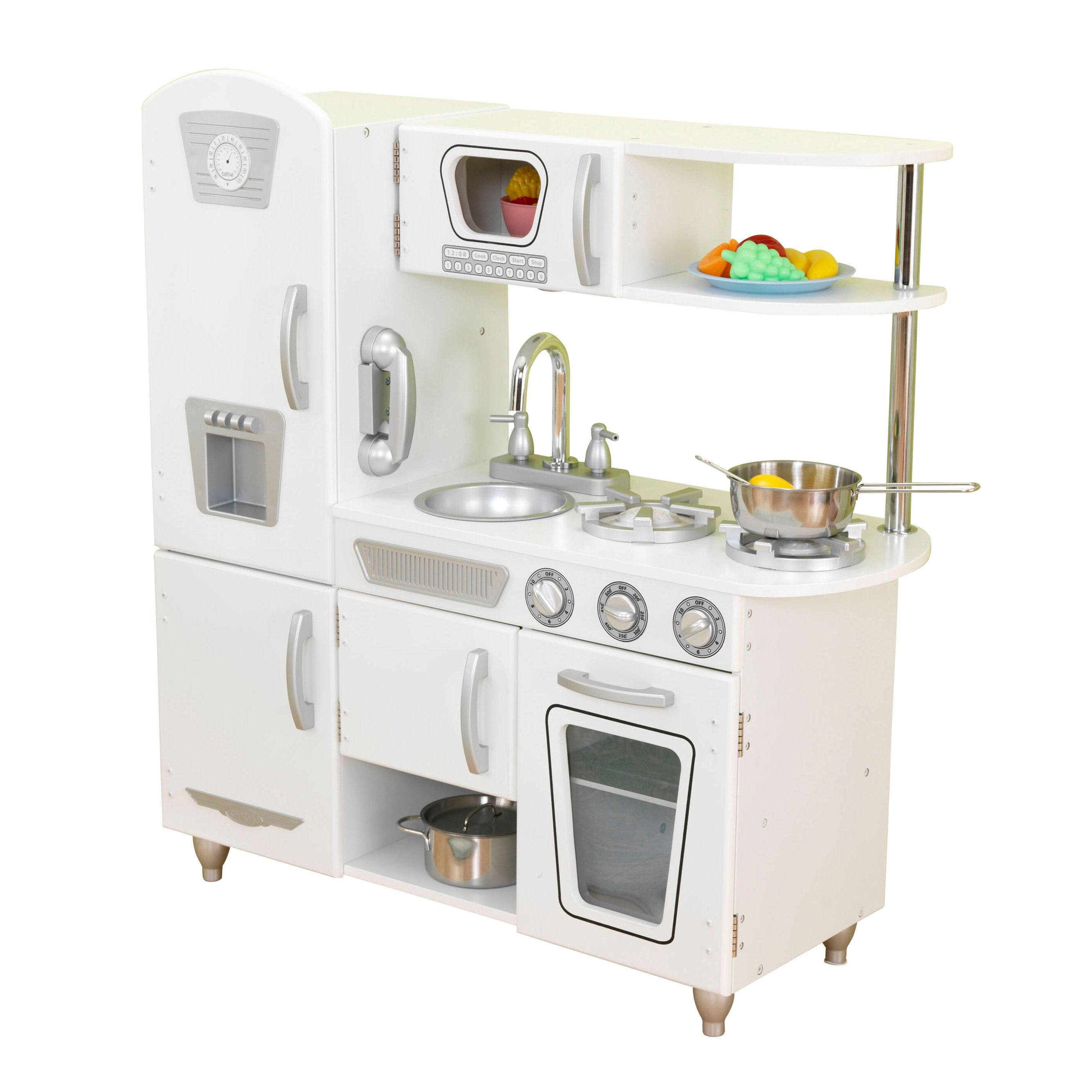 new kidkraft retro kitchen white - taste