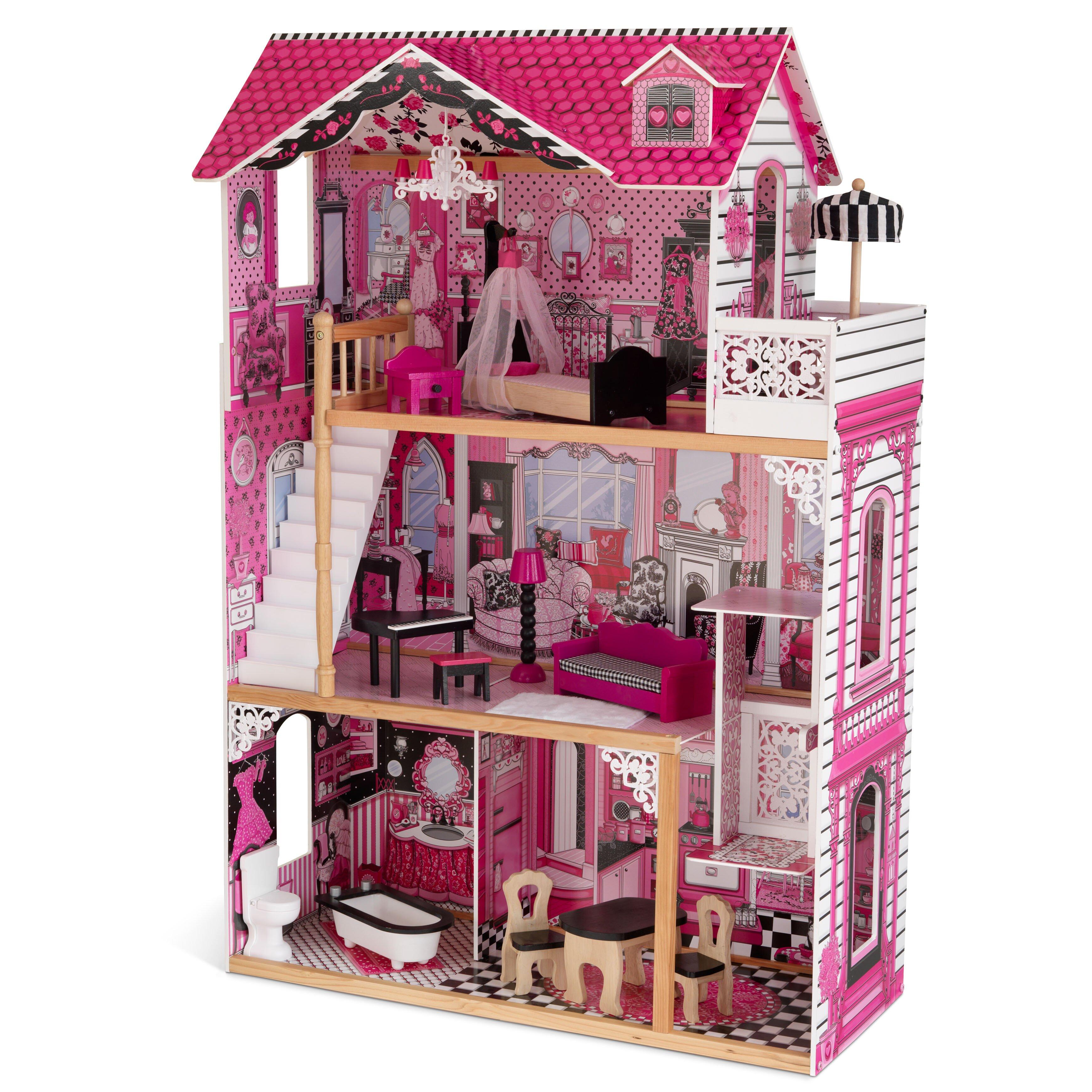 Kidkraft amelia dollhouse reviews wayfair - Fabriquer maison barbie ...