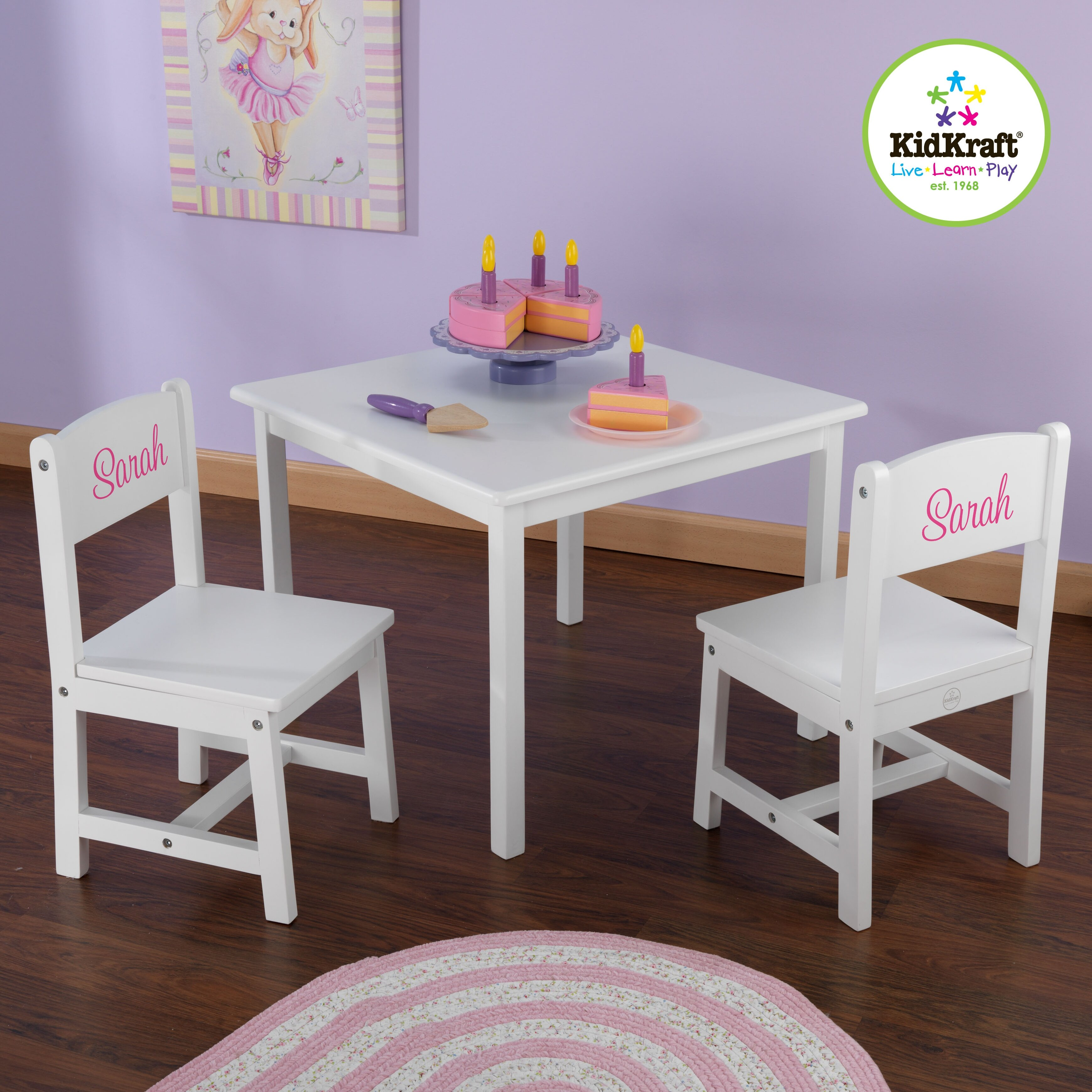 KidKraft Personalized Aspen Kids 3 Piece Table and Chair Set – Aspen Chair