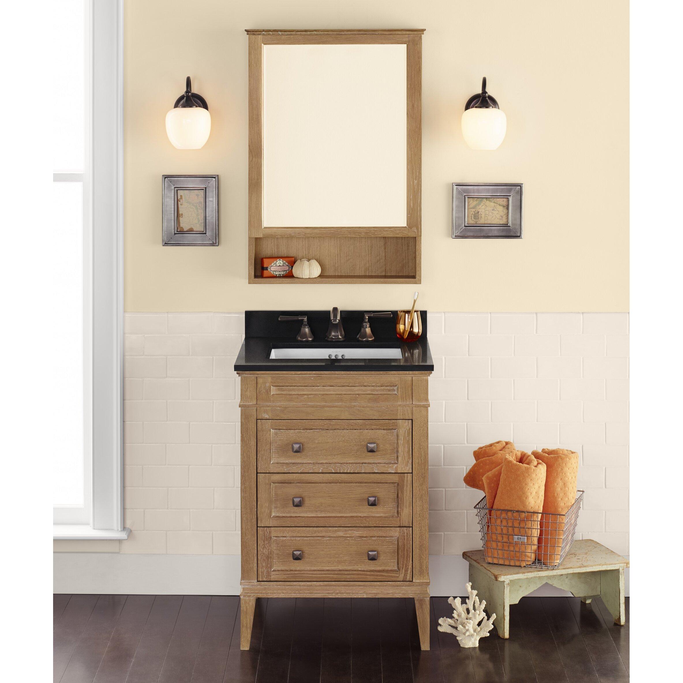 Ronbow Laurel 24 Quot Single Bathroom Vanity Set With Mirror Wayfair