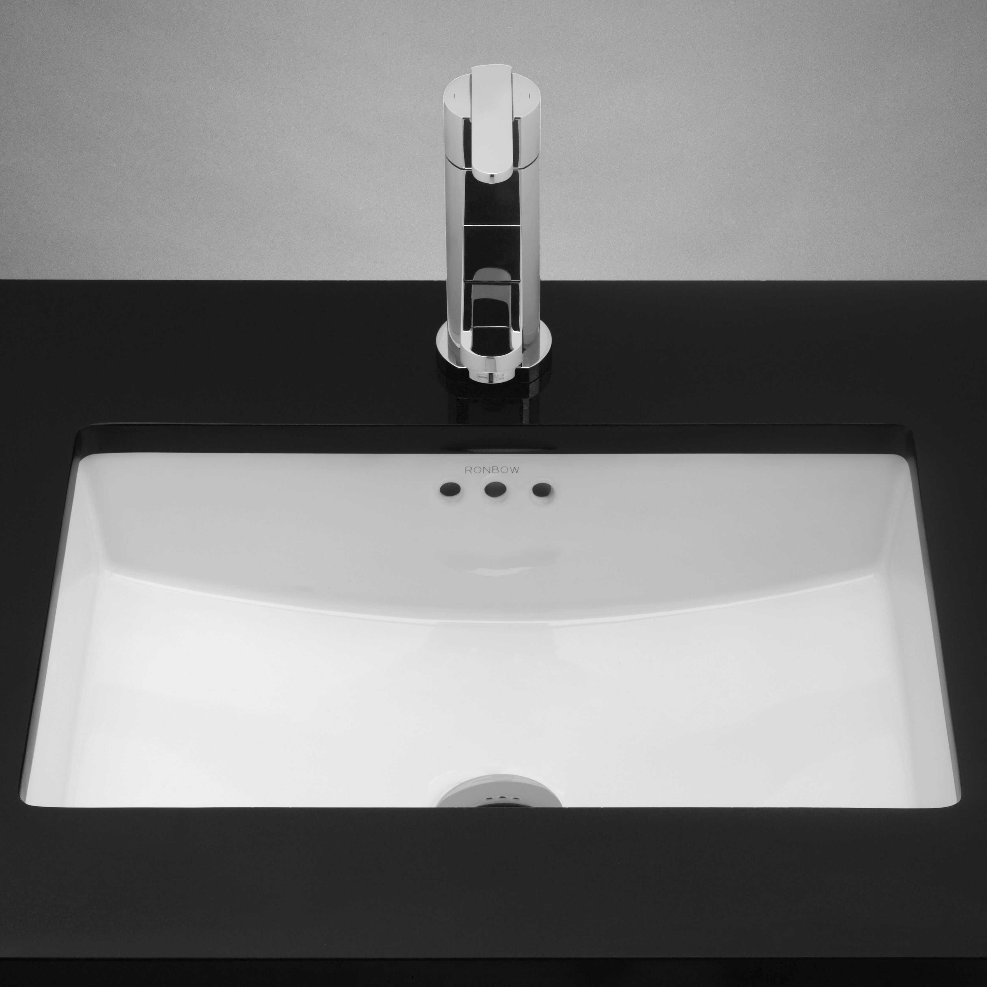 Undermount Square Bathroom Sink : ronbow rectangular ceramic undermount bathroom sink in white