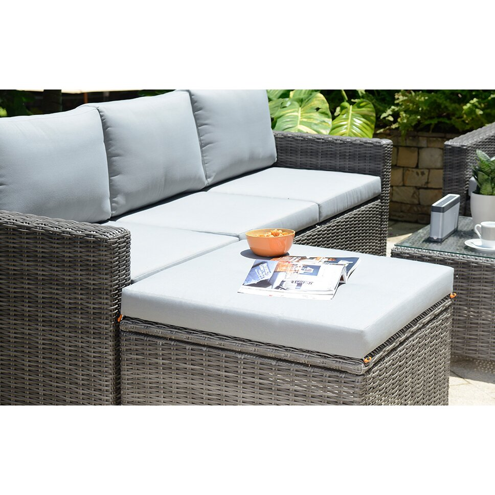 Outandoutoriginal marbella 5 seater sectional sofa set for Sofa exterior marbella