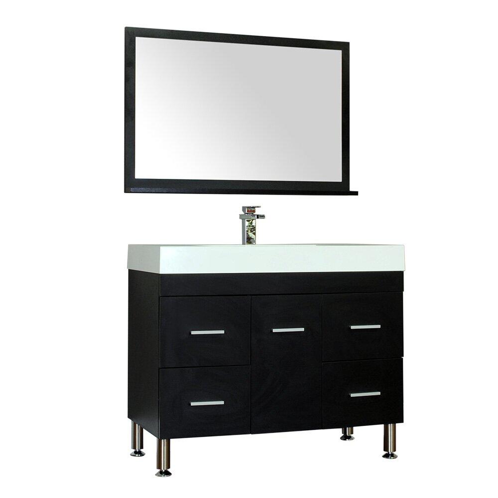 Alya bath ripley 39 single modern bathroom vanity set - Contemporary bathroom vanity sets ...