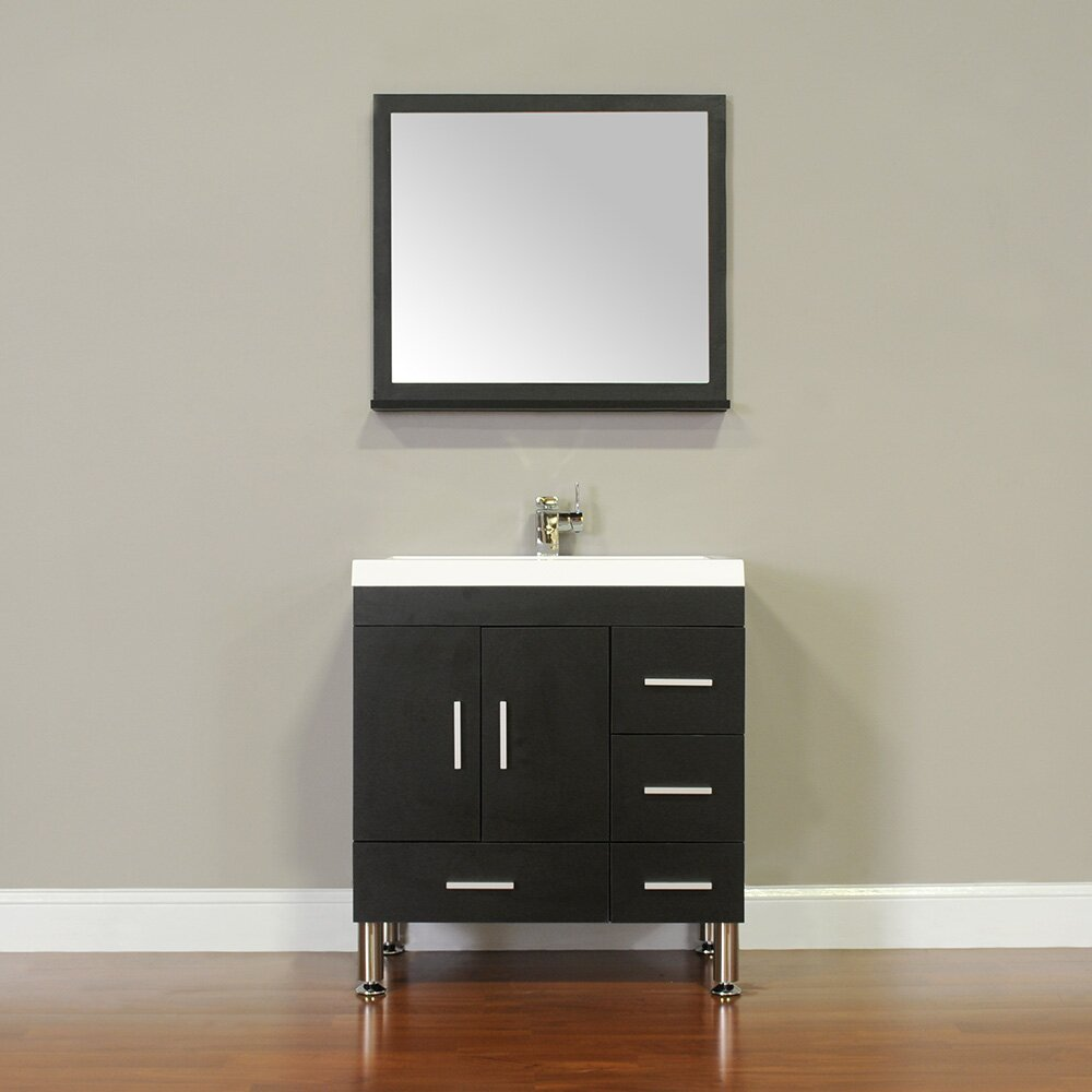 Alya Bath Ripley 30 Single Modern Bathroom Vanity Set With Mirror
