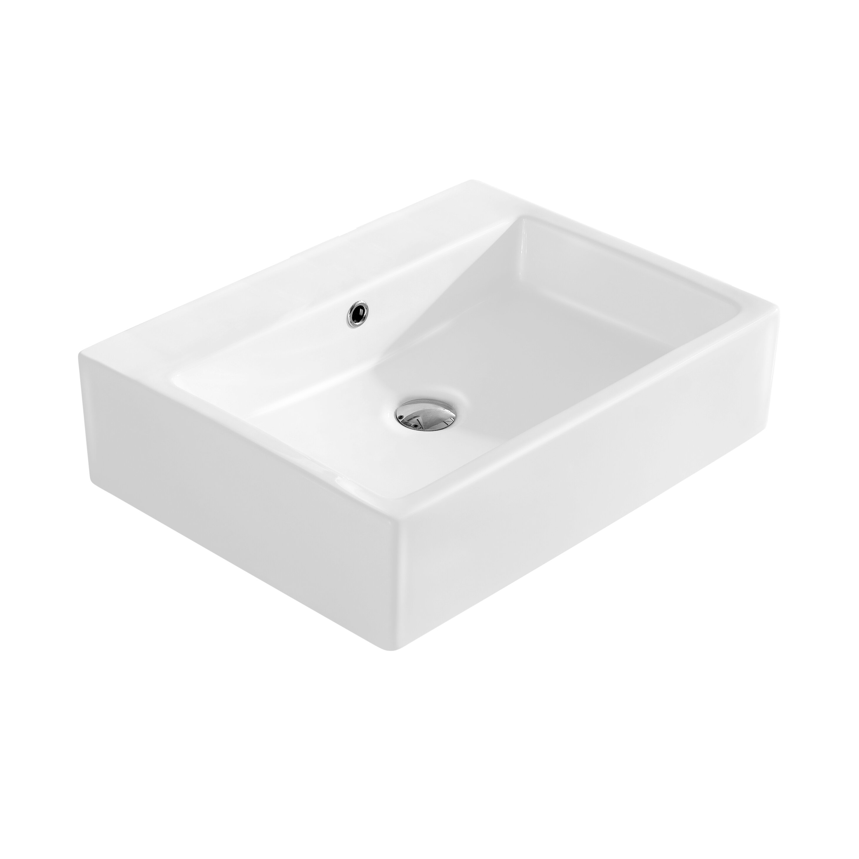 Rectangular Bathroom Sinks Fine Fixtures Modern Vitreous Rectangular Vessel Bathroom Sink