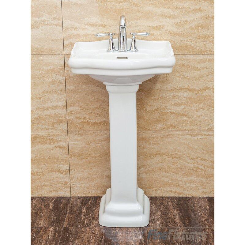 18 Pedestal Sink : Fine Fixtures Roosevelt 18