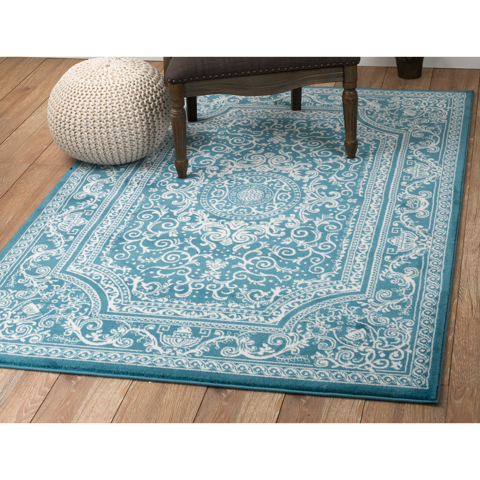 Rug And Decor Inc. Summit Blue Area Rug & Reviews