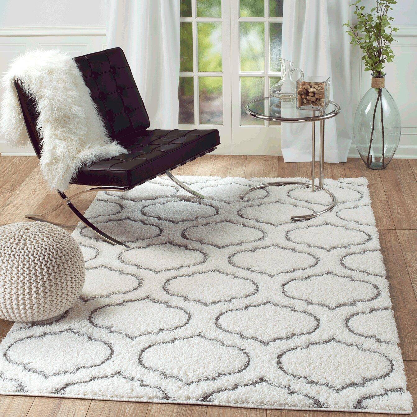 White Living Room Rug Rug And Decor Inc Lorena White Area Rug Reviews Wayfair