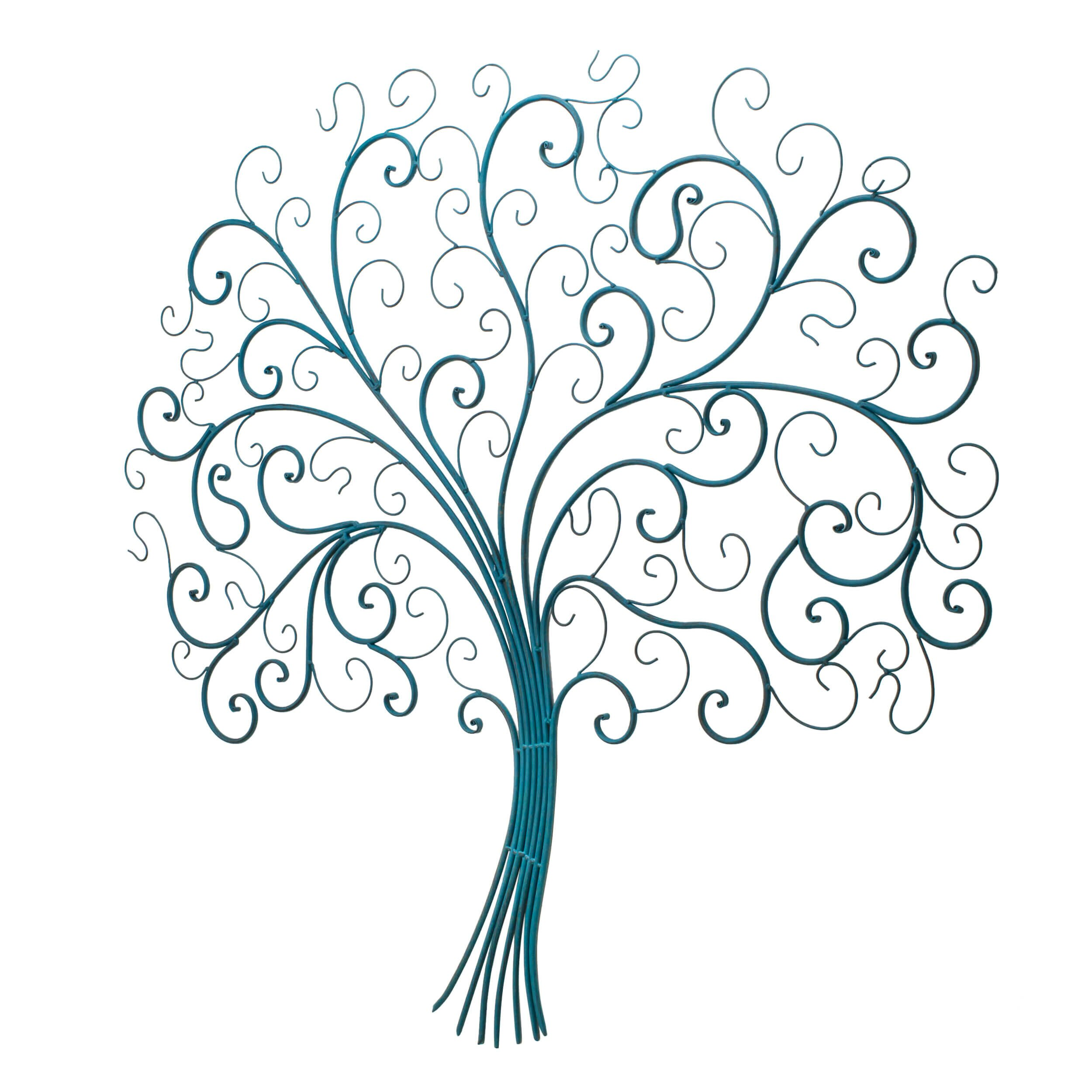 Bay Accents Iron Tree of Life Wall Du0026eacute;cor