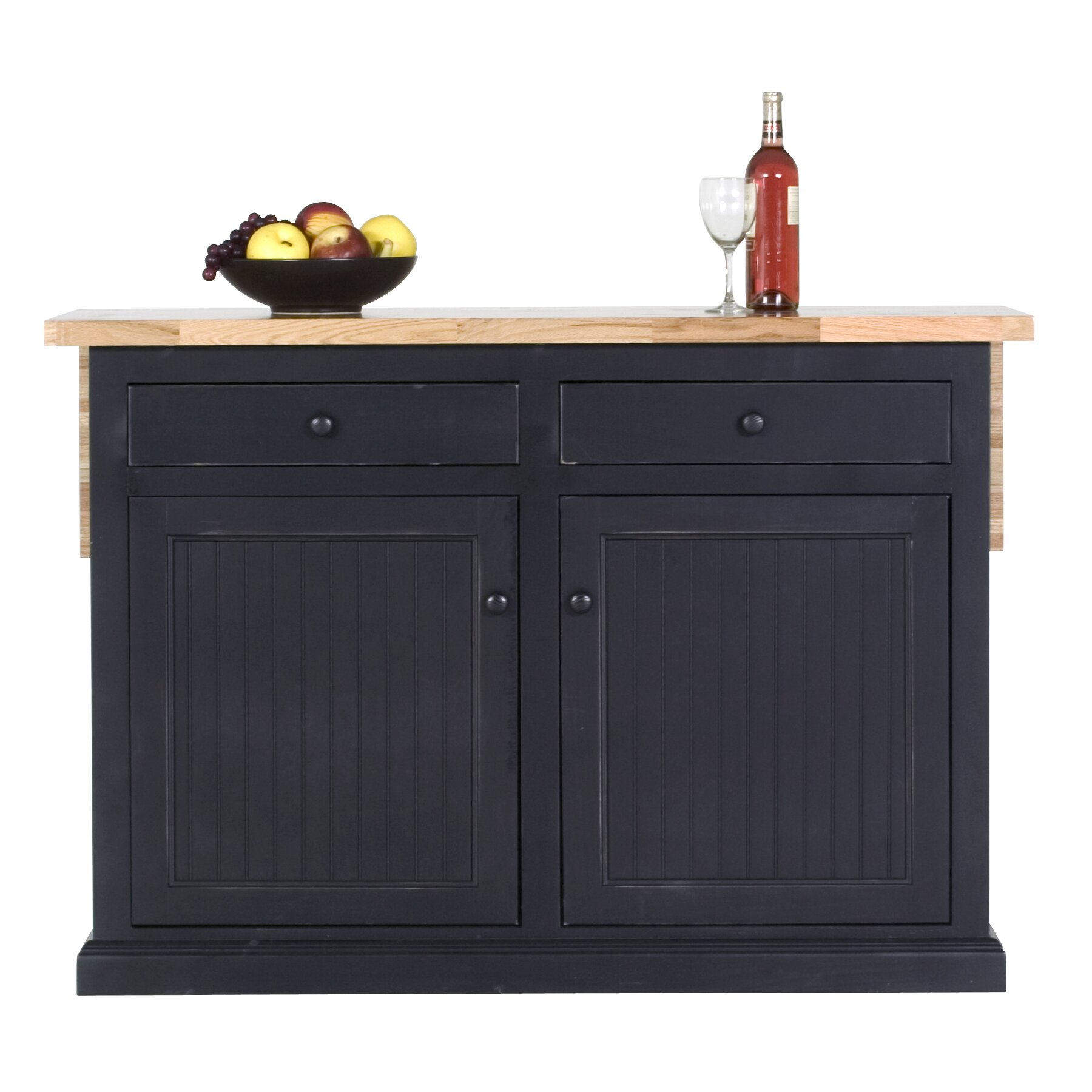 Butcher Block Kitchen Island Breakwater Bay Meredith Kitchen Island With Butcher Block Top