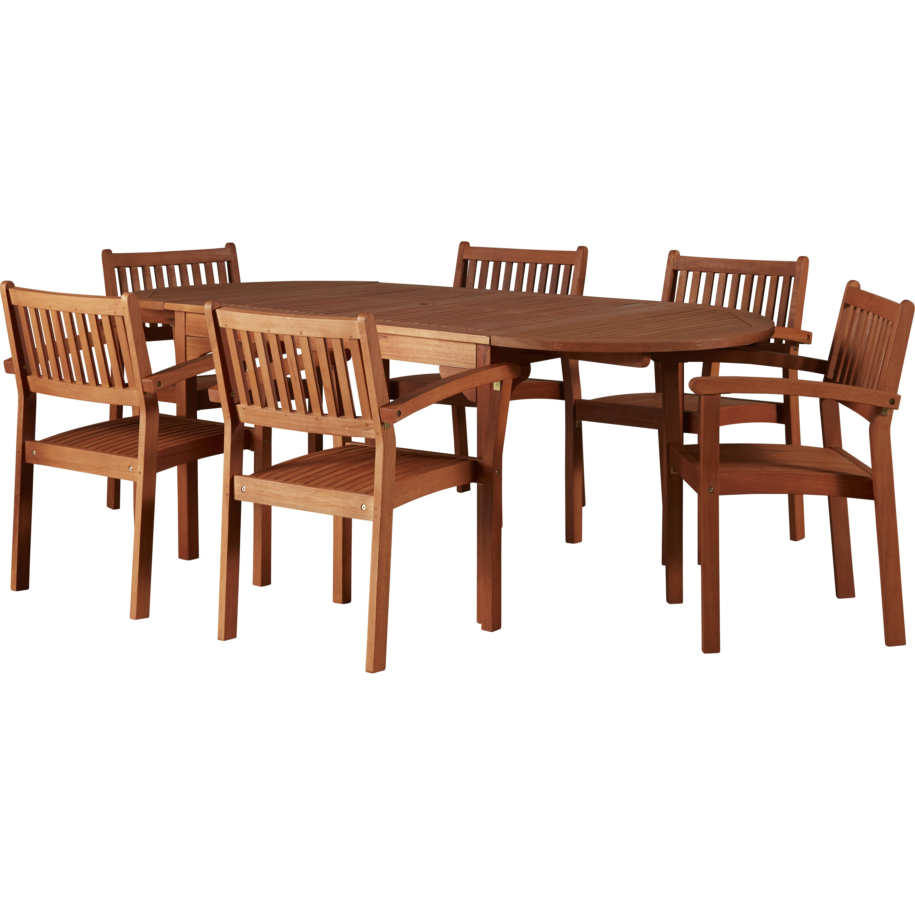 Very Impressive portraiture of Breakwater Bay Bucksport 7 Piece Dining Set & Reviews Wayfair with #3D170A color and 3616x3616 pixels