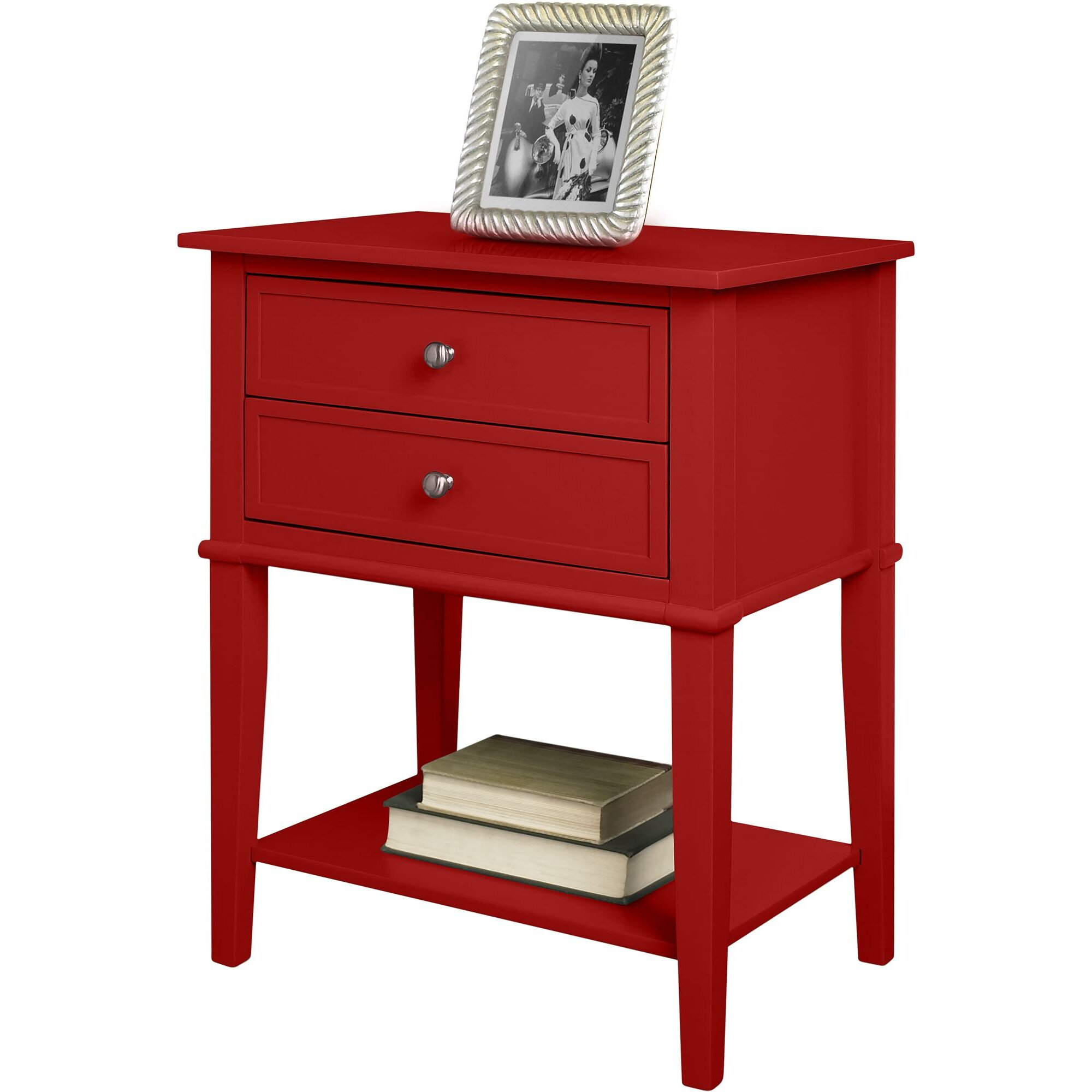 breakwater bay banbury 2 drawer end table reviews. Black Bedroom Furniture Sets. Home Design Ideas