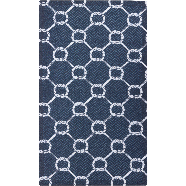 breakwater bay brigham navy white indoor outdoor area rug. Black Bedroom Furniture Sets. Home Design Ideas