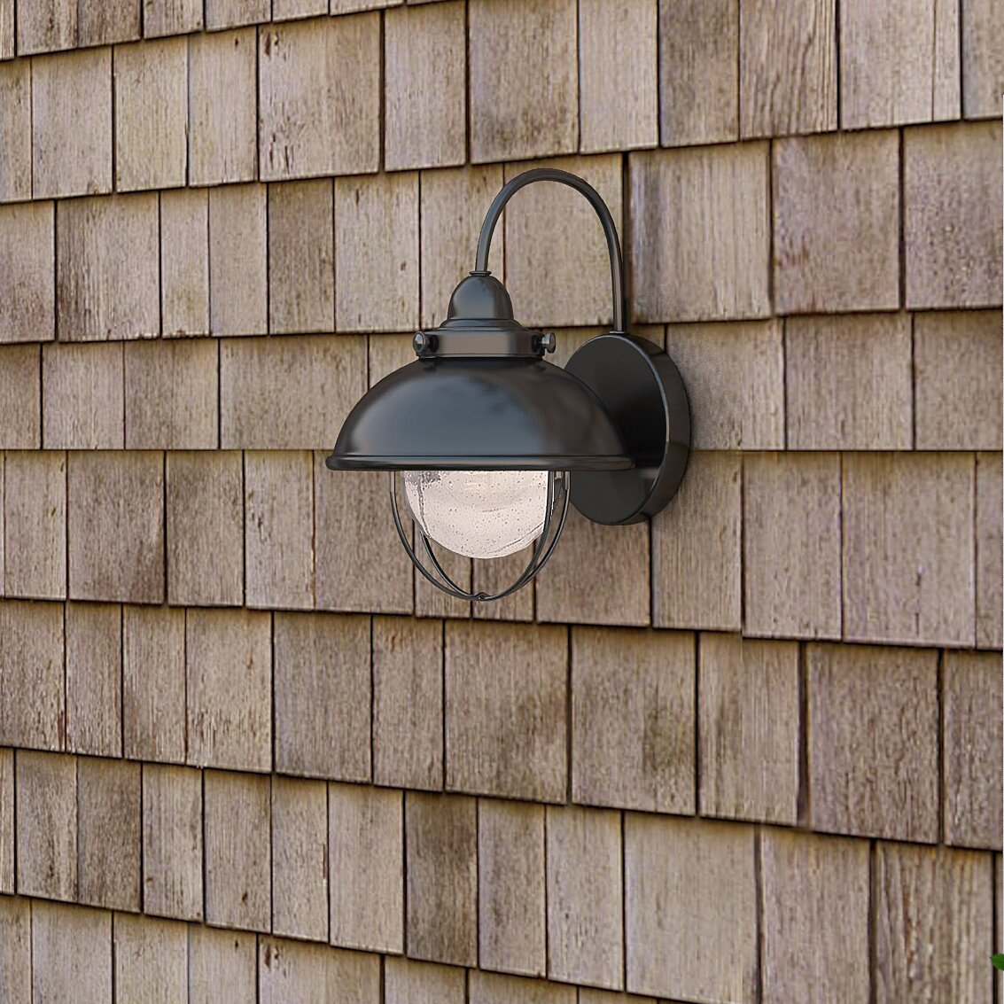 Breakwater Bay Everetts 1 Light Outdoor Barn Light