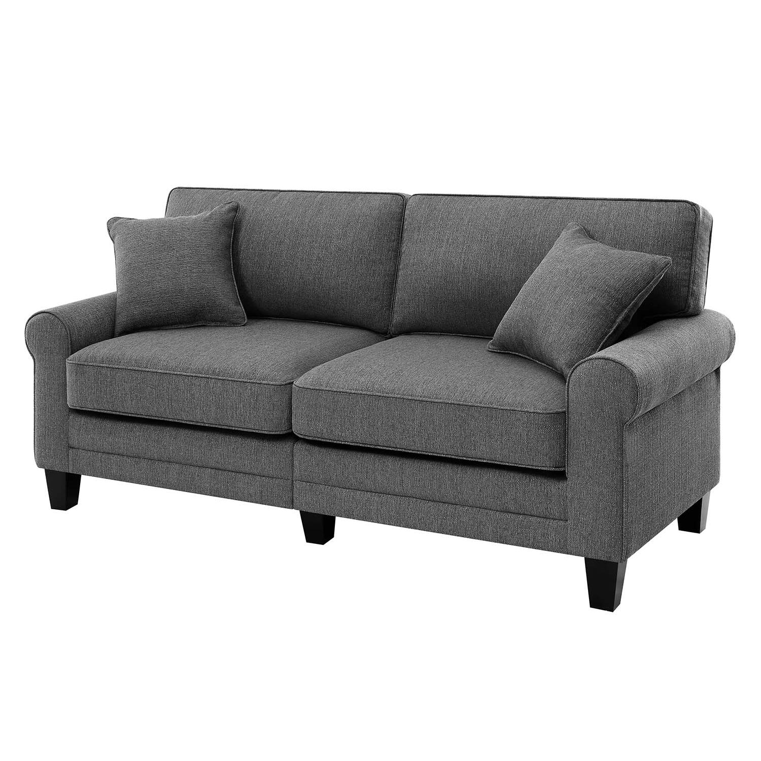 Breakwater bay hereford 78 quot rolled arm sofa amp reviews