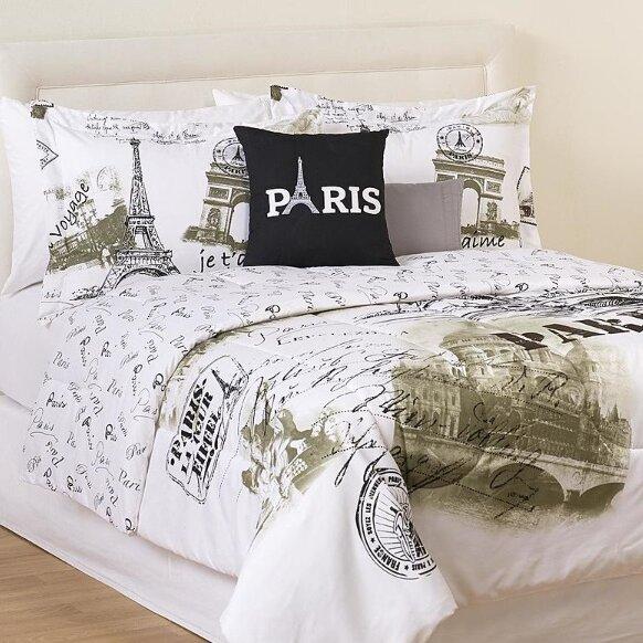 casa paris postcard 5 piece full queen comforter set reviews wayfair. Black Bedroom Furniture Sets. Home Design Ideas