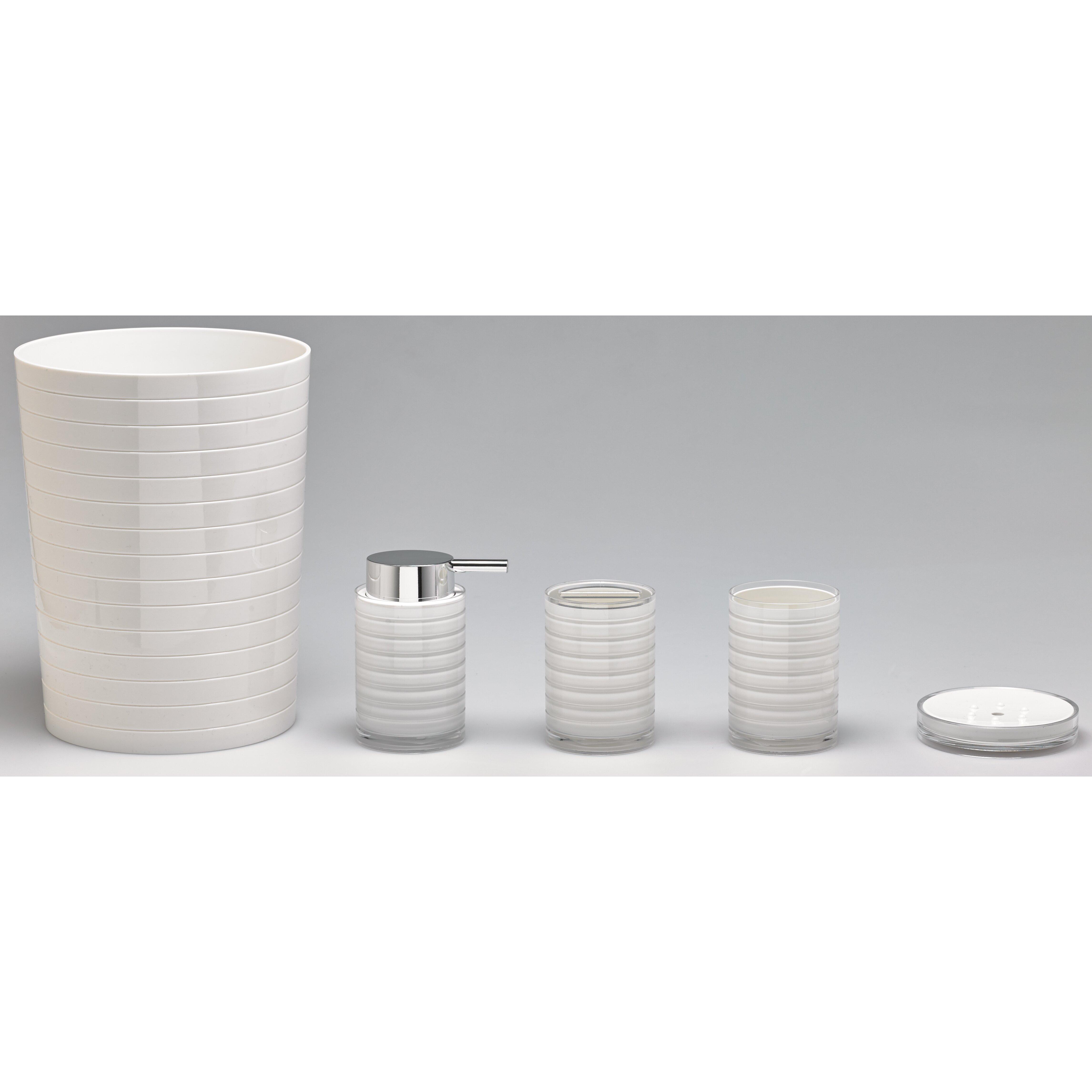 moda at home ice acrylic 4-piece bathroom accessory set   wayfair