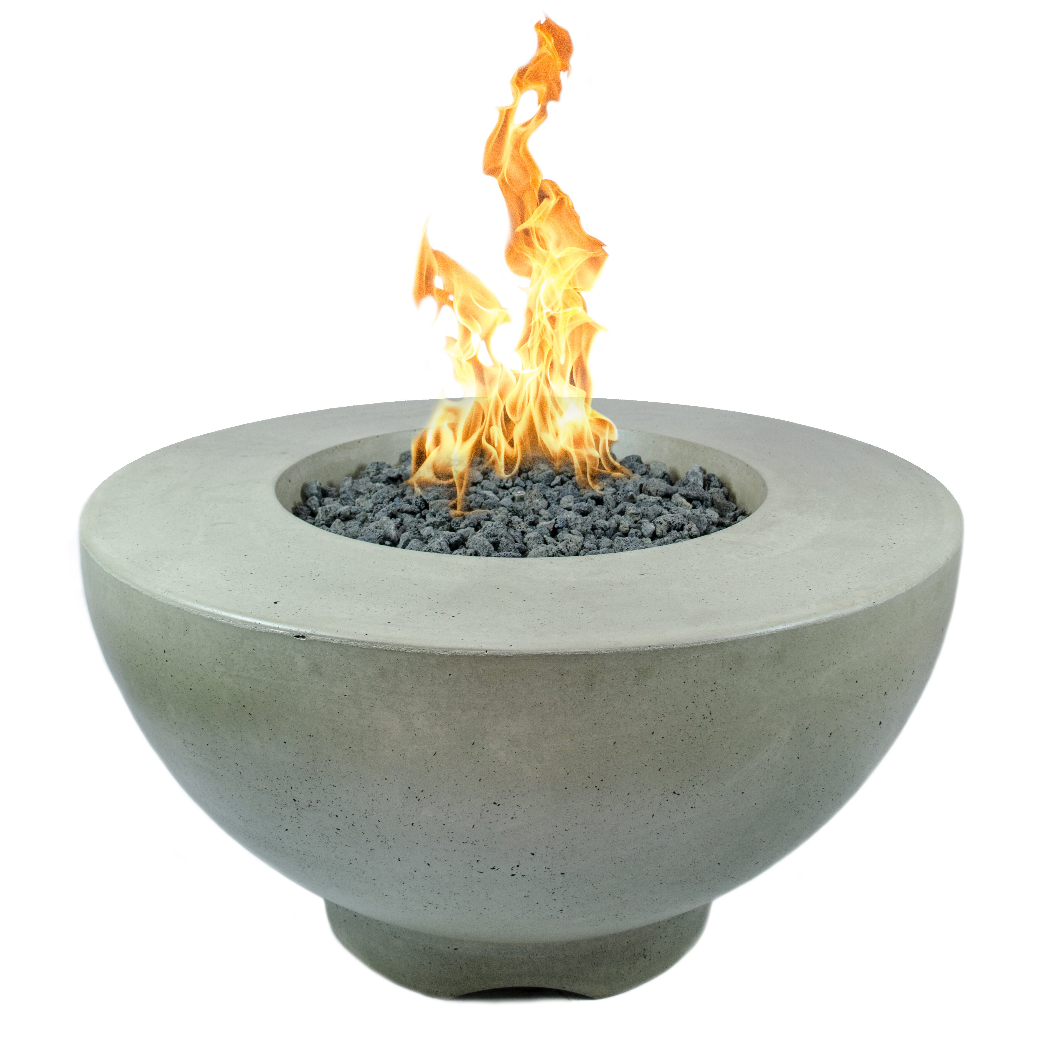 The Outdoor Plus Sienna Concrete Natural Gas/Propane Fire ...