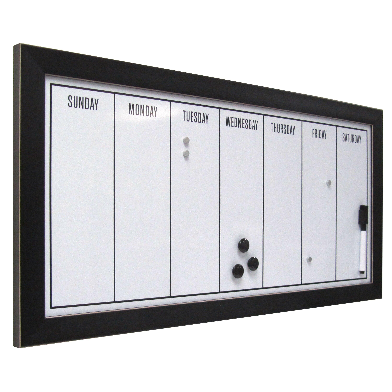 uniek wyeth framed magnetic weekly calendar dry erase board