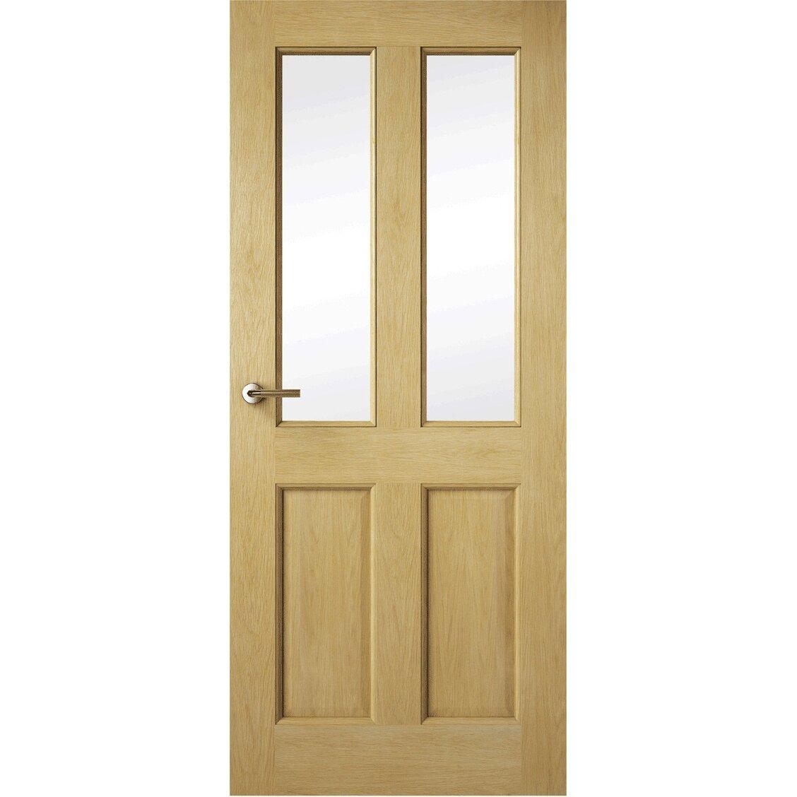 premdor oak glazed internal door reviews wayfair uk. Black Bedroom Furniture Sets. Home Design Ideas