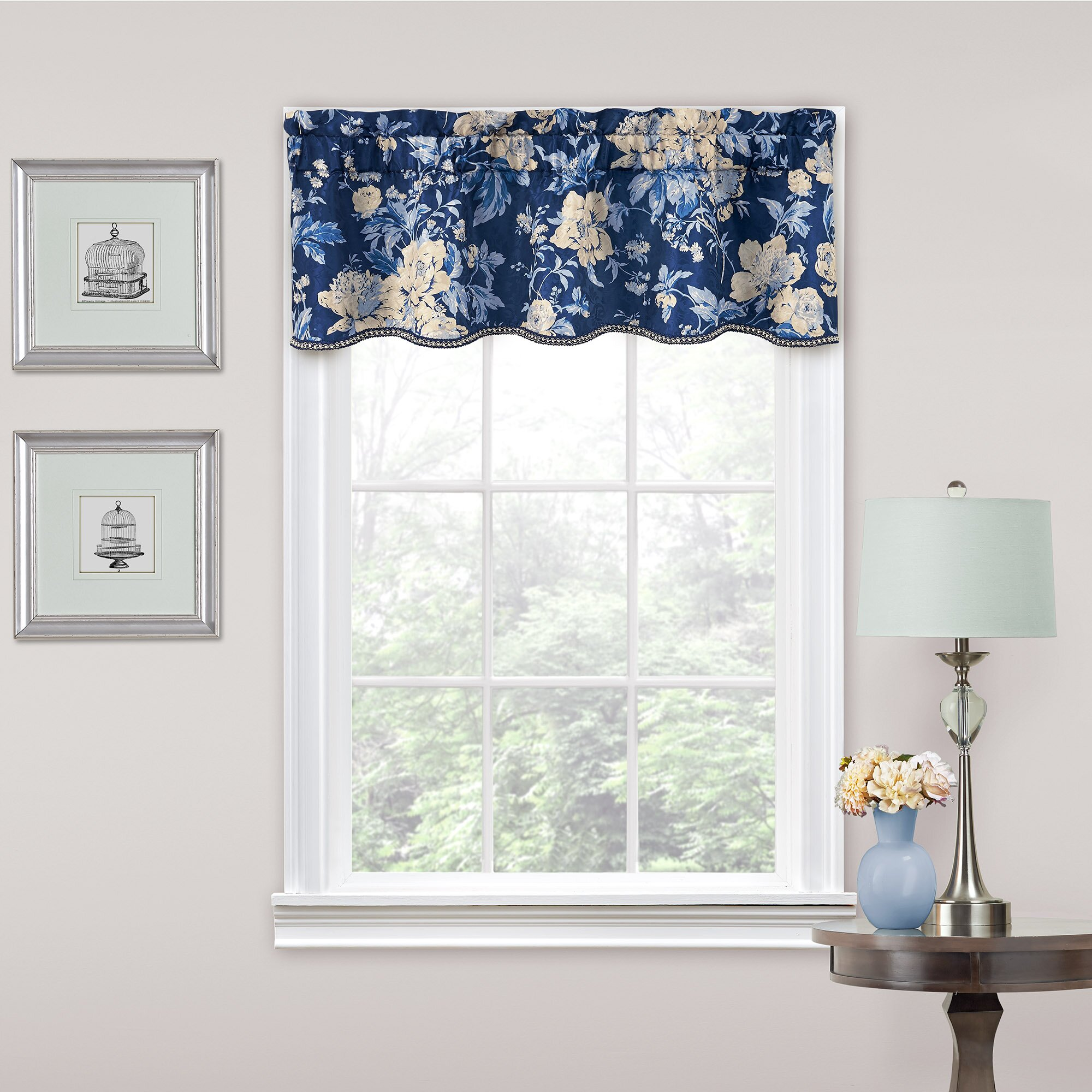 Curtain track cover - Traditions By Waverly Forever Yours Floral 52 Quot Curtain Valance