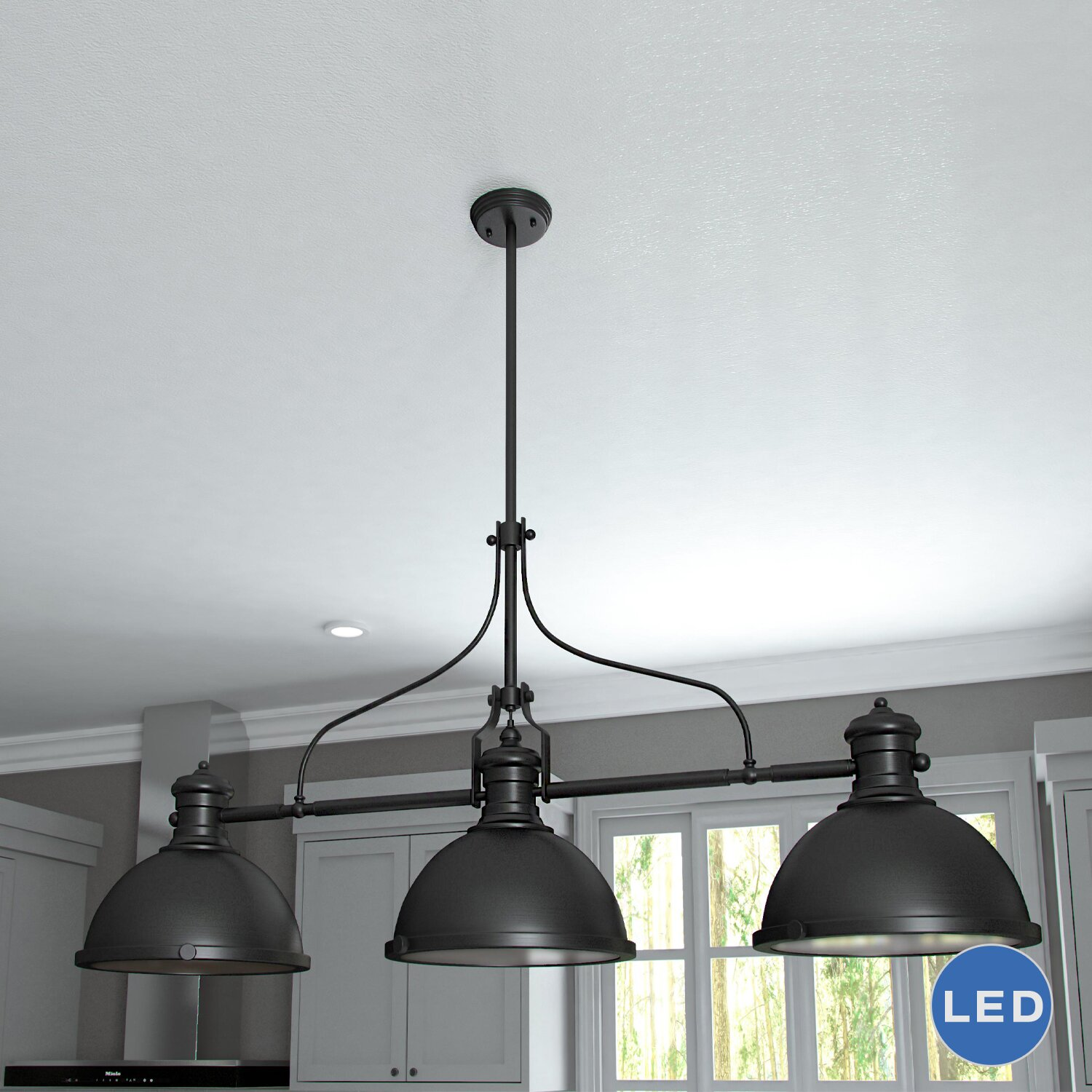 nice 3 Light Pendant Island Kitchen Lighting #6: VONN Lighting Dorado 3-Light Kitchen Island Pendant