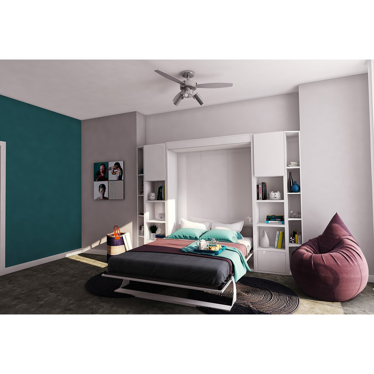 Multimo Queen Murphy Bed Amp Reviews Wayfair