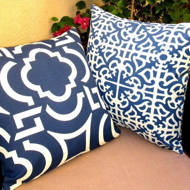 Modern Beach Pillow : Artisan Pillows Modern Contemporary Beach Geometric Indoor/Outdoor Pillow Cover Wayfair.ca