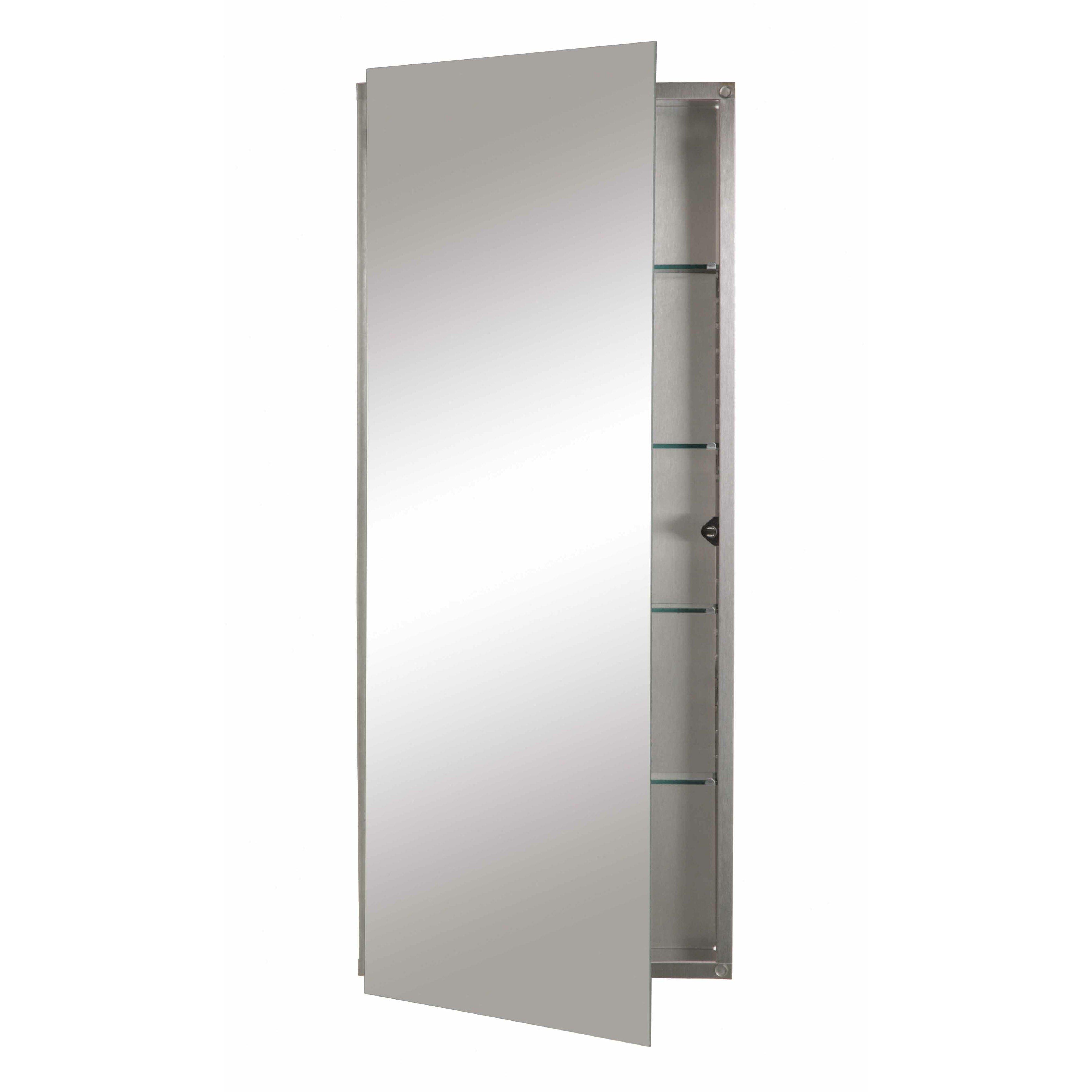 Recessed Bathroom Medicine Cabinets Jensen 15 X 36 Recessed Medicine Cabinet Reviews Wayfair