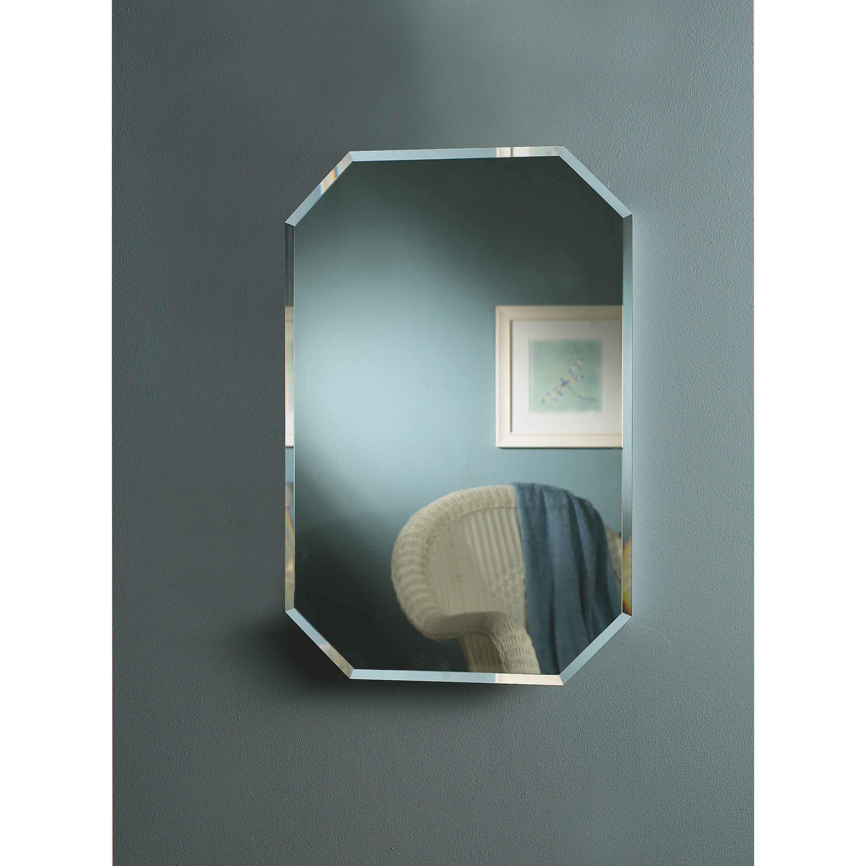 Jensen 18 x 27 recessed beveled edge medicine cabinet for Bathroom medicine cabinets 14 x 18