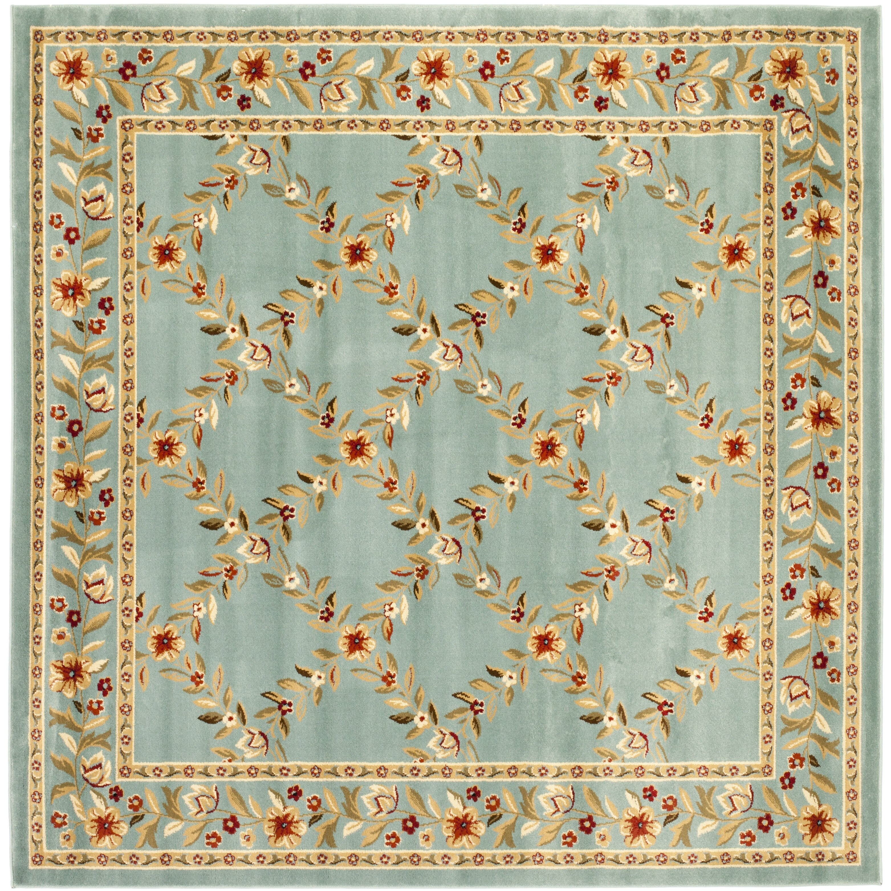 Checked Area Rugs: Rosalind Wheeler Markenfield Blue Checked Area Rug