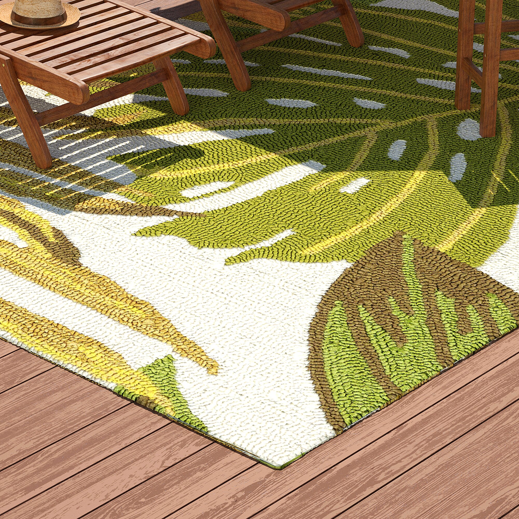 Bay Isle Home Kioneli Handmade Green Indoor Outdoor Area