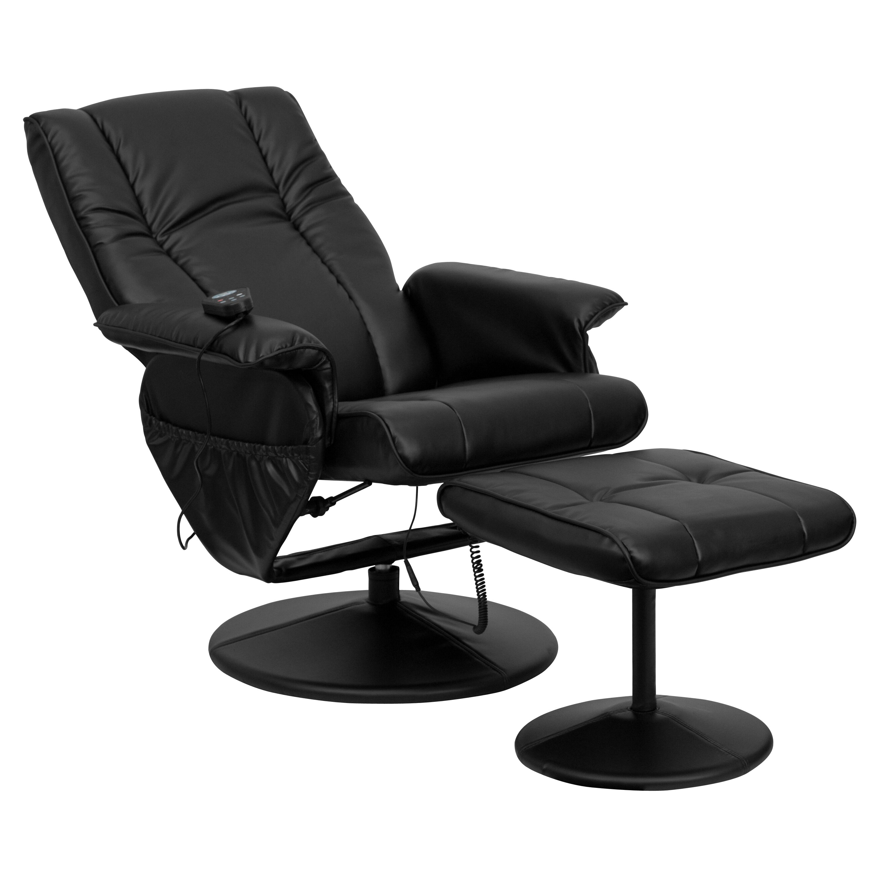 Symple Stuff Leather Heated Reclining