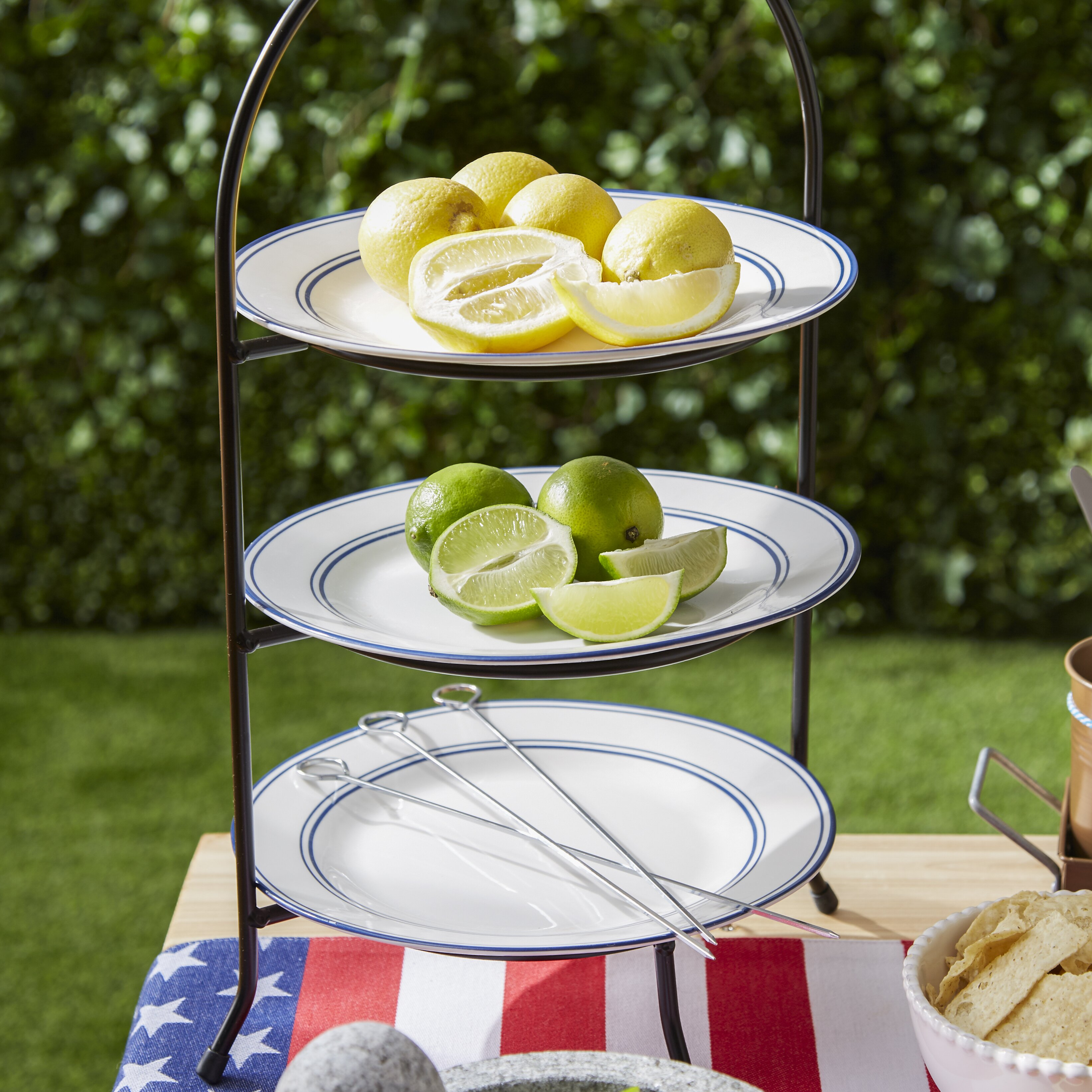 Symple Stuff 3 Tier Dinner Plate Rack Tiered Stand