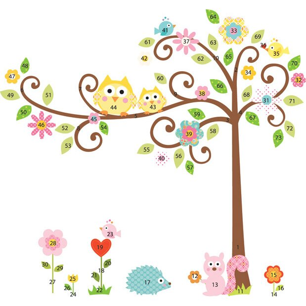 Zoomie Kids Meadow Scroll Tree Wall Decal