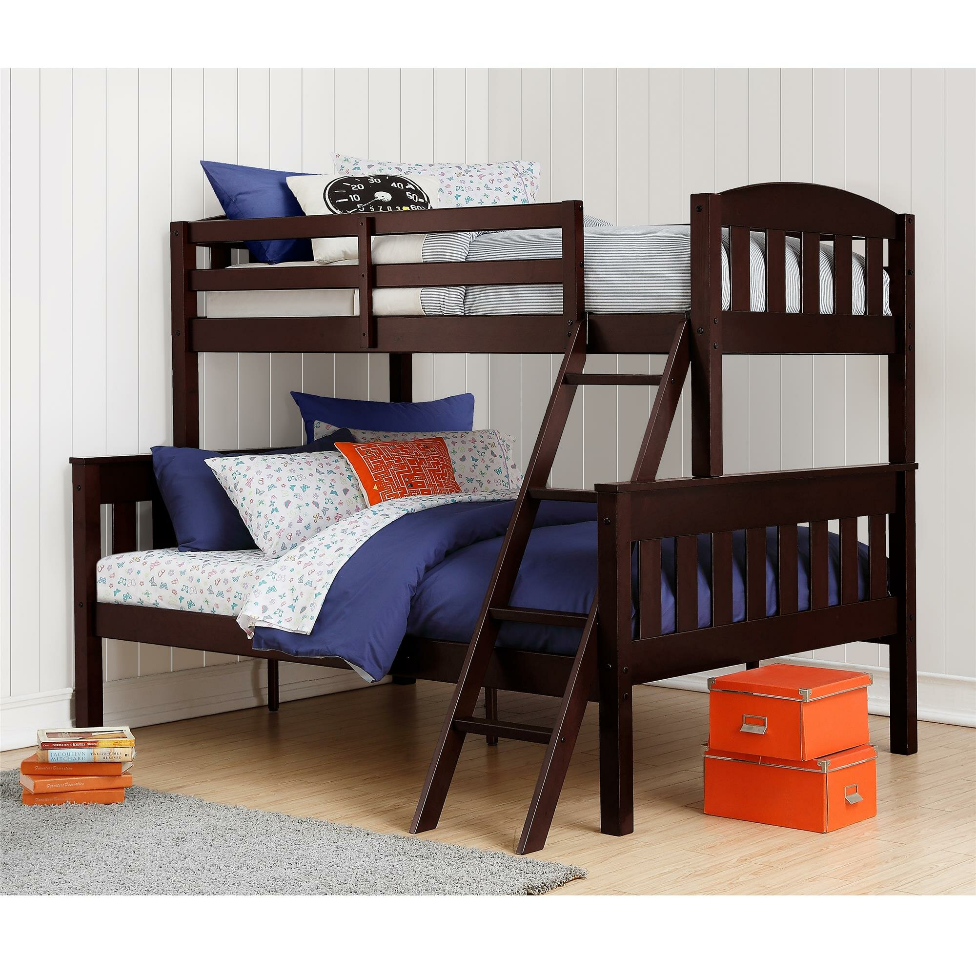 zoomie kids immanuel twin over full bunk bed reviews. Black Bedroom Furniture Sets. Home Design Ideas