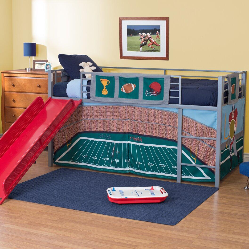Zoomie Kids Catalina Junior Twin Loft Bed With Slide