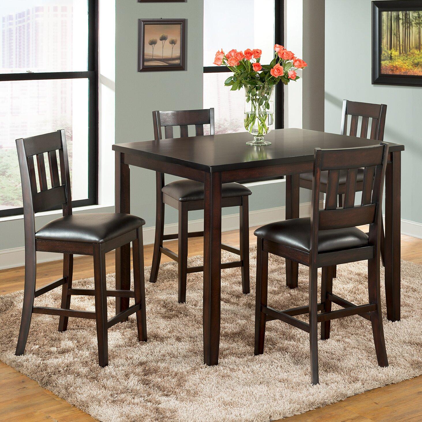 5 Piece Bar Table Set Vilohomeinc Americano 5 Piece Pub Table Set Reviews Wayfair