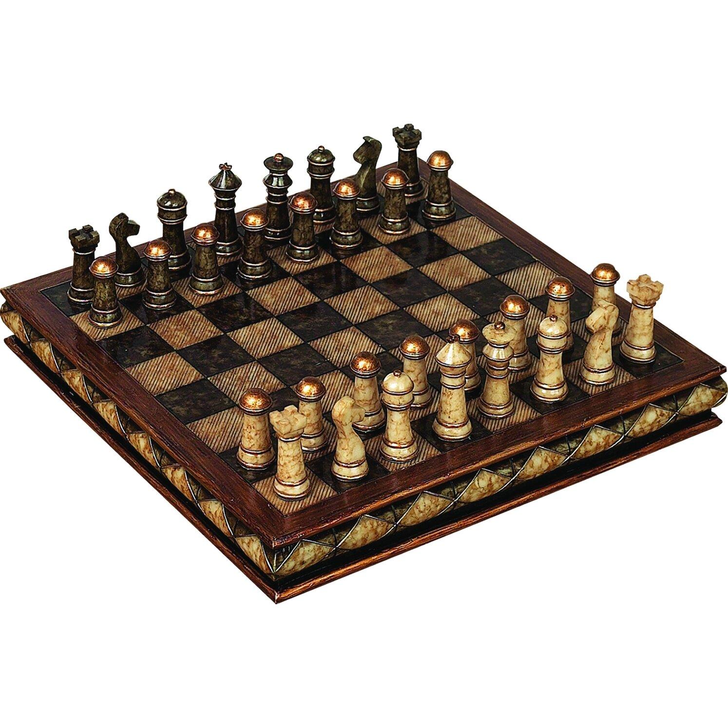 Astoria grand fiarmont decorative chess set reviews wayfair - Ornamental chess sets ...