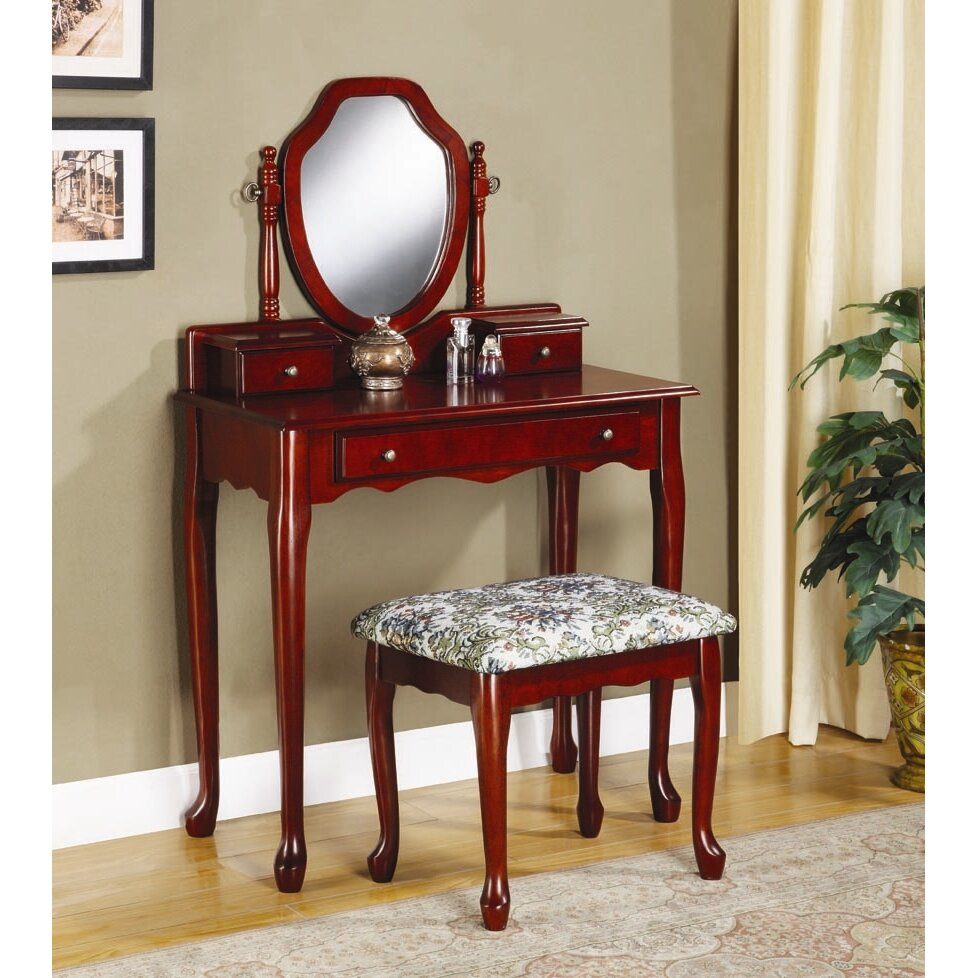 Astoria Grand Craigmillar Vanity Set with Mirror & Reviews ...