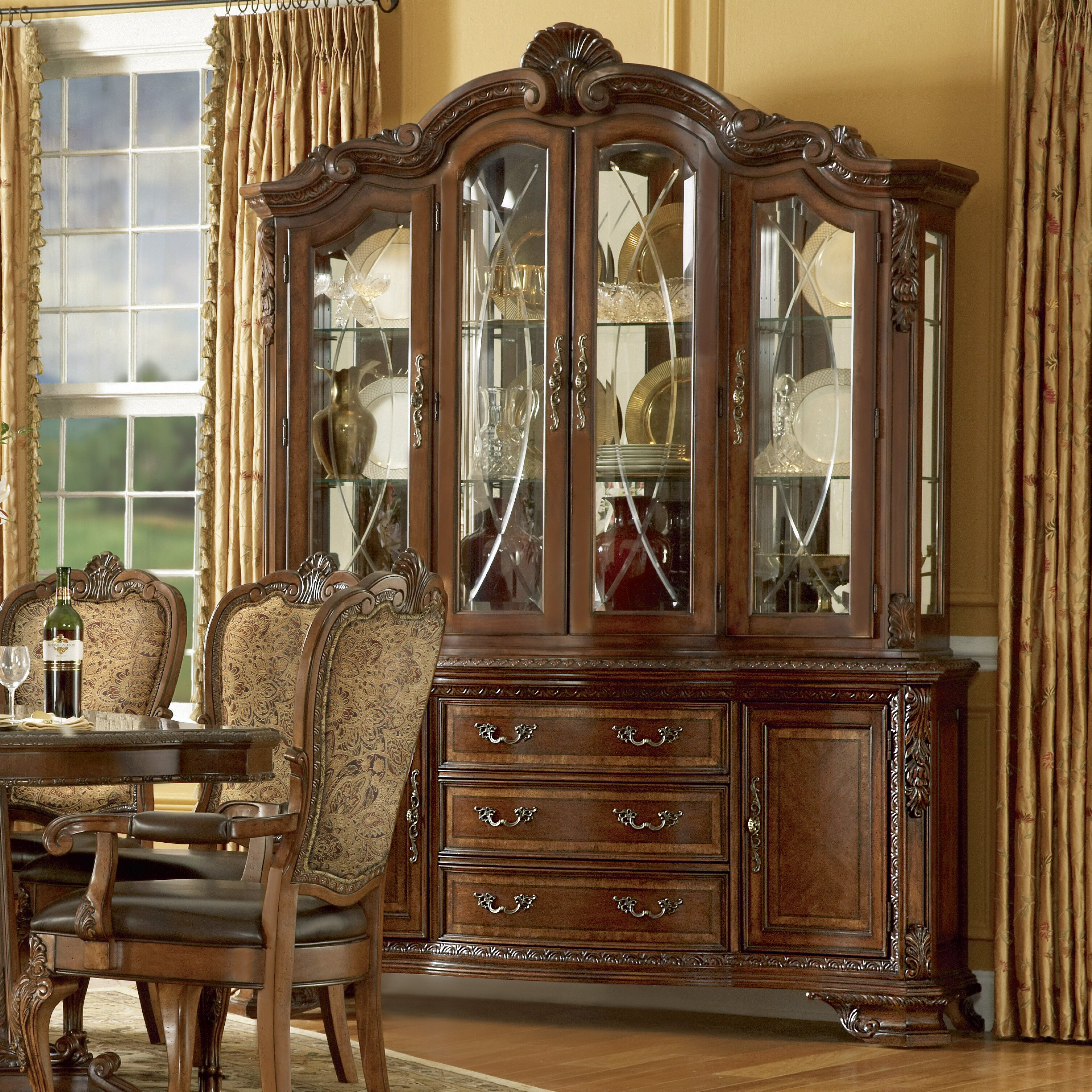 Chippendale China Cabinet Astoria Grand Ormside China Cabinet Reviews Wayfair