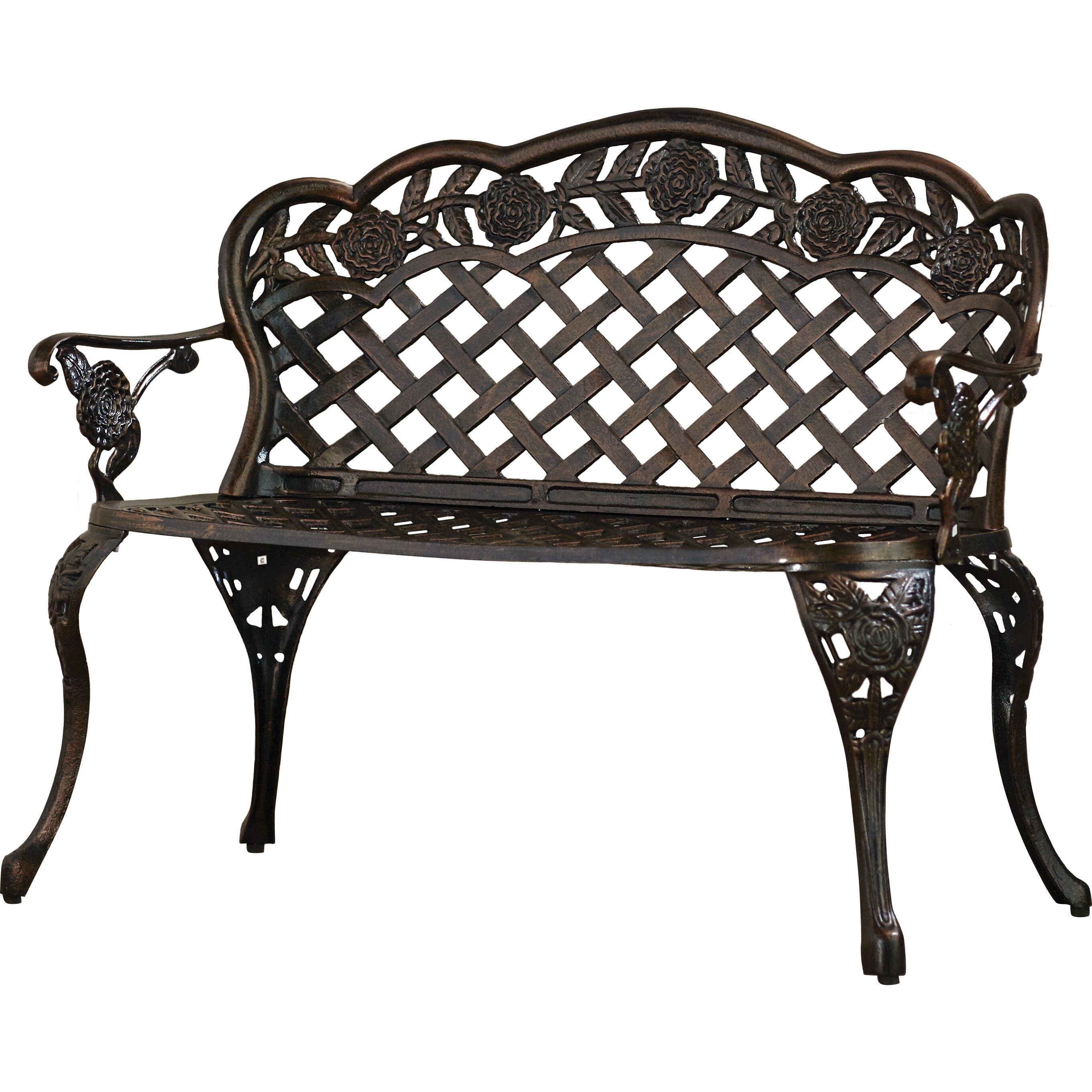 Astoria Grand Madama Cast Aluminum Garden Bench Reviews Wayfair
